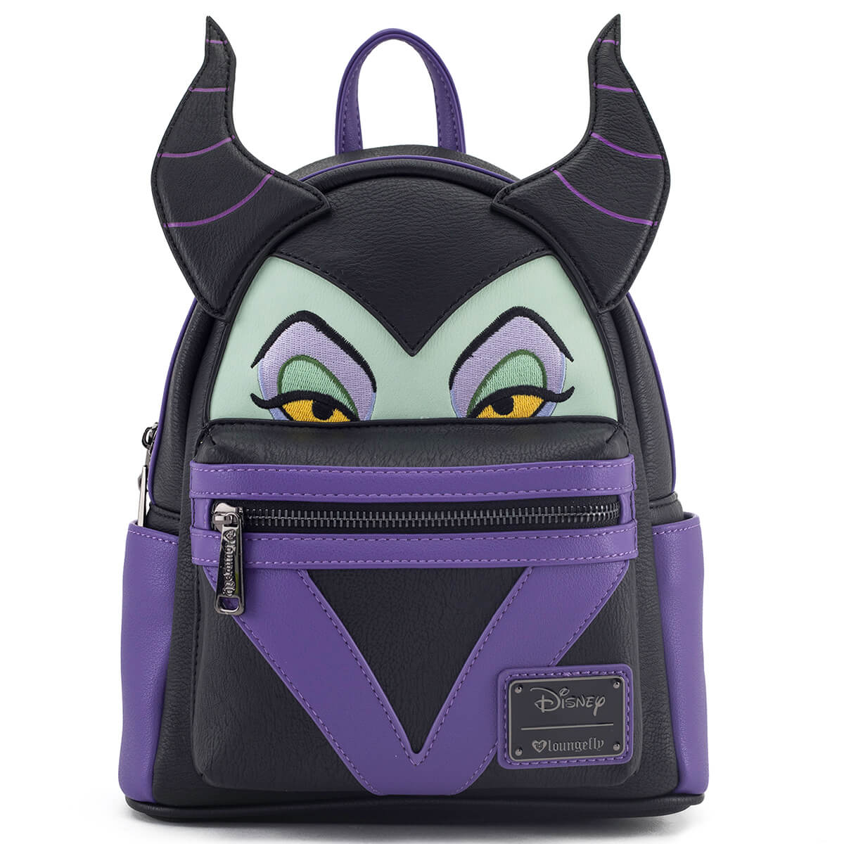 b96c3a4bc99 Loungefly Disney Maleficent Face Mini Backpack. Description