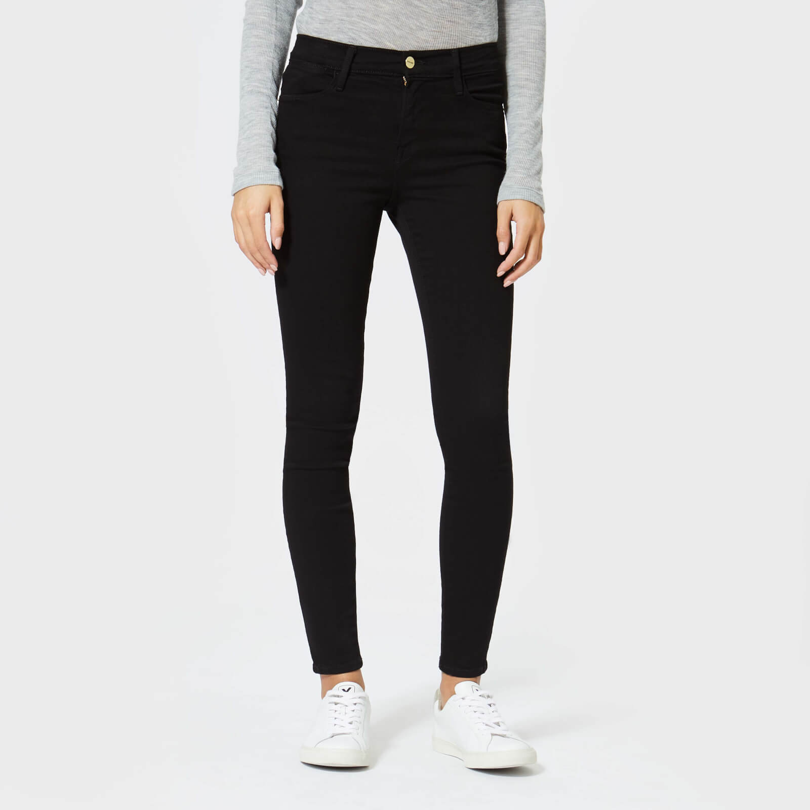 8e915ca330f Frame Women s Le High Skinny Jeans - Film Noir - Free UK Delivery over £50