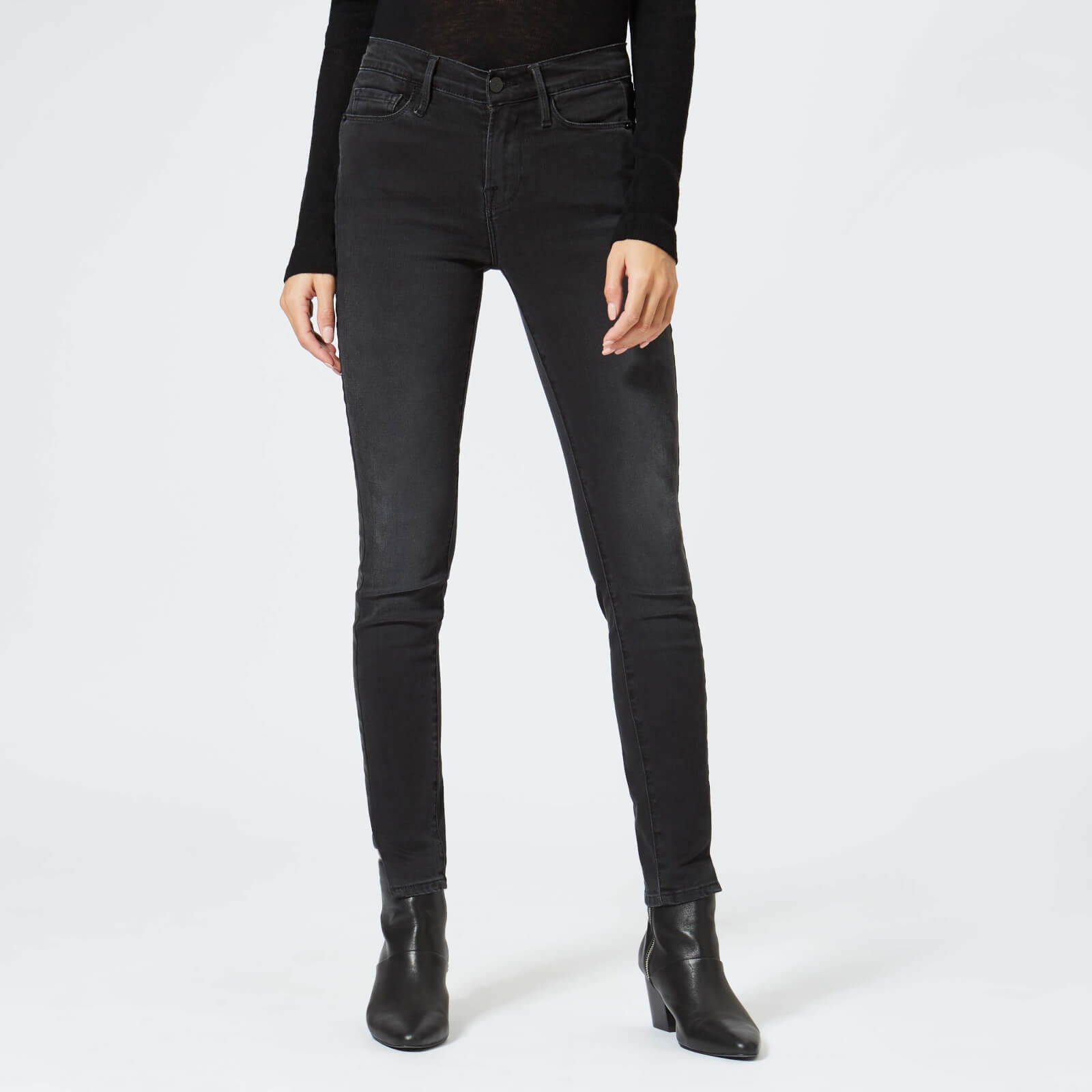 5ab6b103bd04 Frame Women s Le Skinny Coated Jeans - Dunlop Coated Tux - Free UK Delivery  over £50