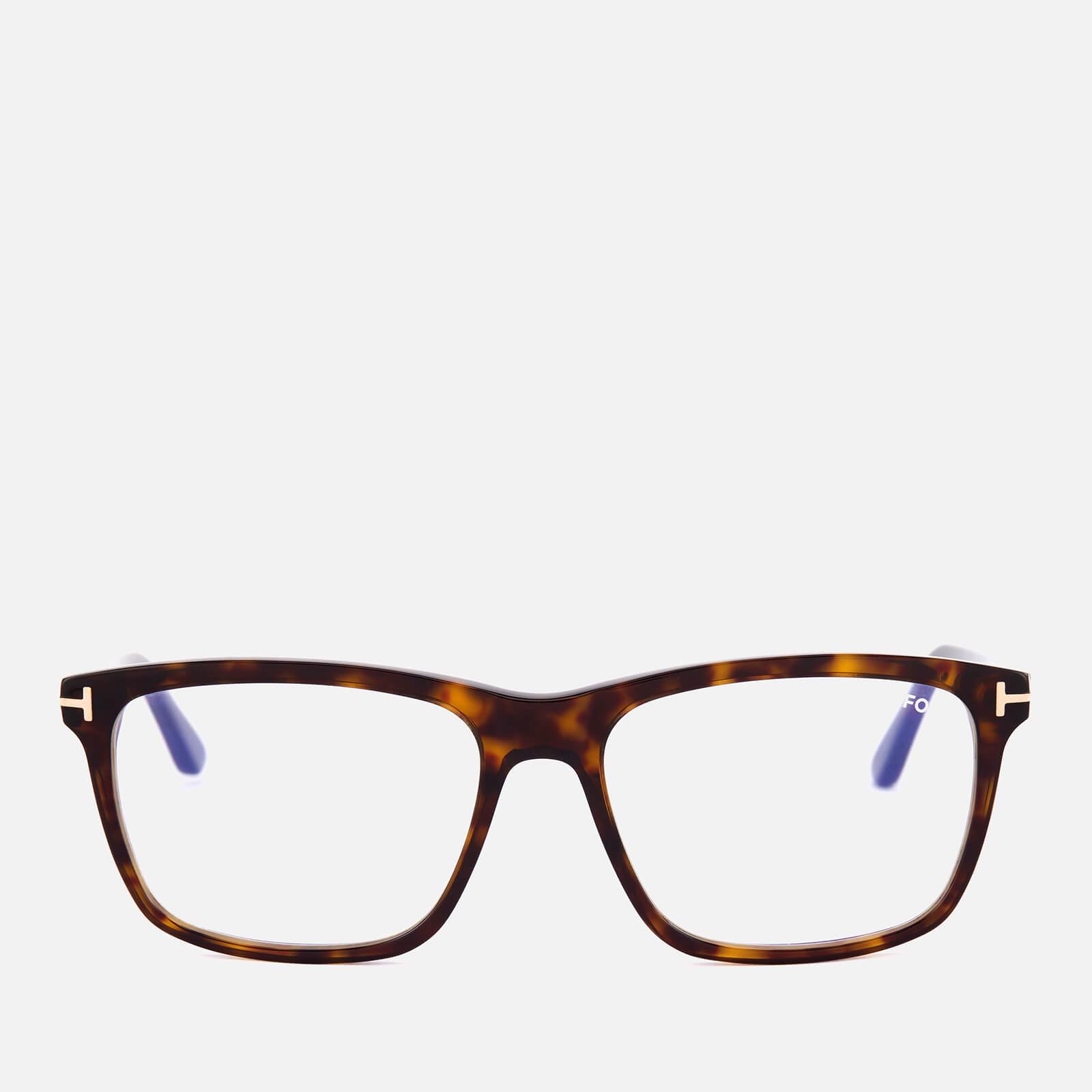 0a7d21cbf2 Tom Ford Men s Blue Block Square Glasses - Dark Havana Mens Accessories
