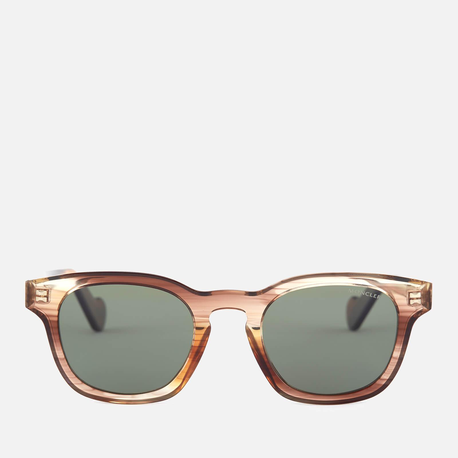 d79a2935b3 Moncler Men s Wayfarer Sunglasses - Light Brown Other Green Polarized -  Free UK Delivery over £50