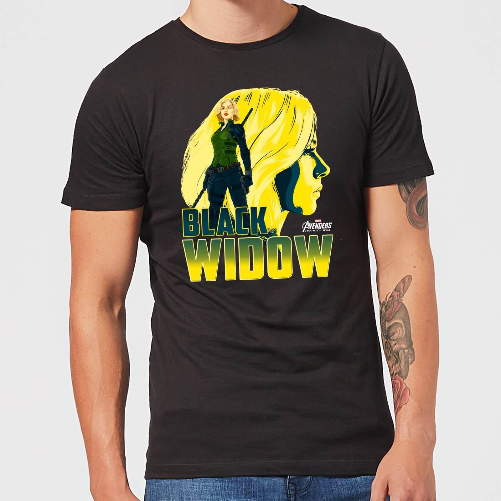 Camiseta Marvel Vengadores Viuda Negra Hombre Negro