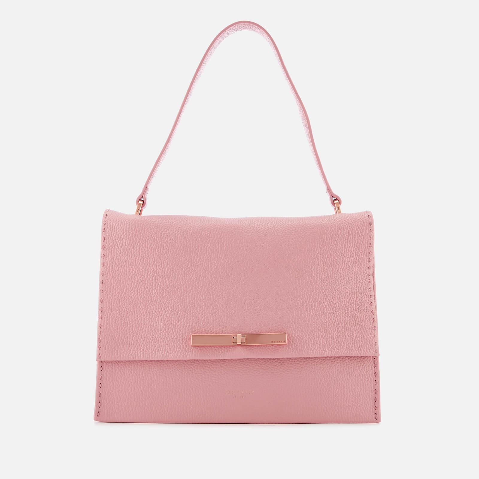 f5264797ce Ted Baker Women's Jessi Concertina Leather Shoulder Bag - Dusky Pink Womens  Accessories | TheHut.com