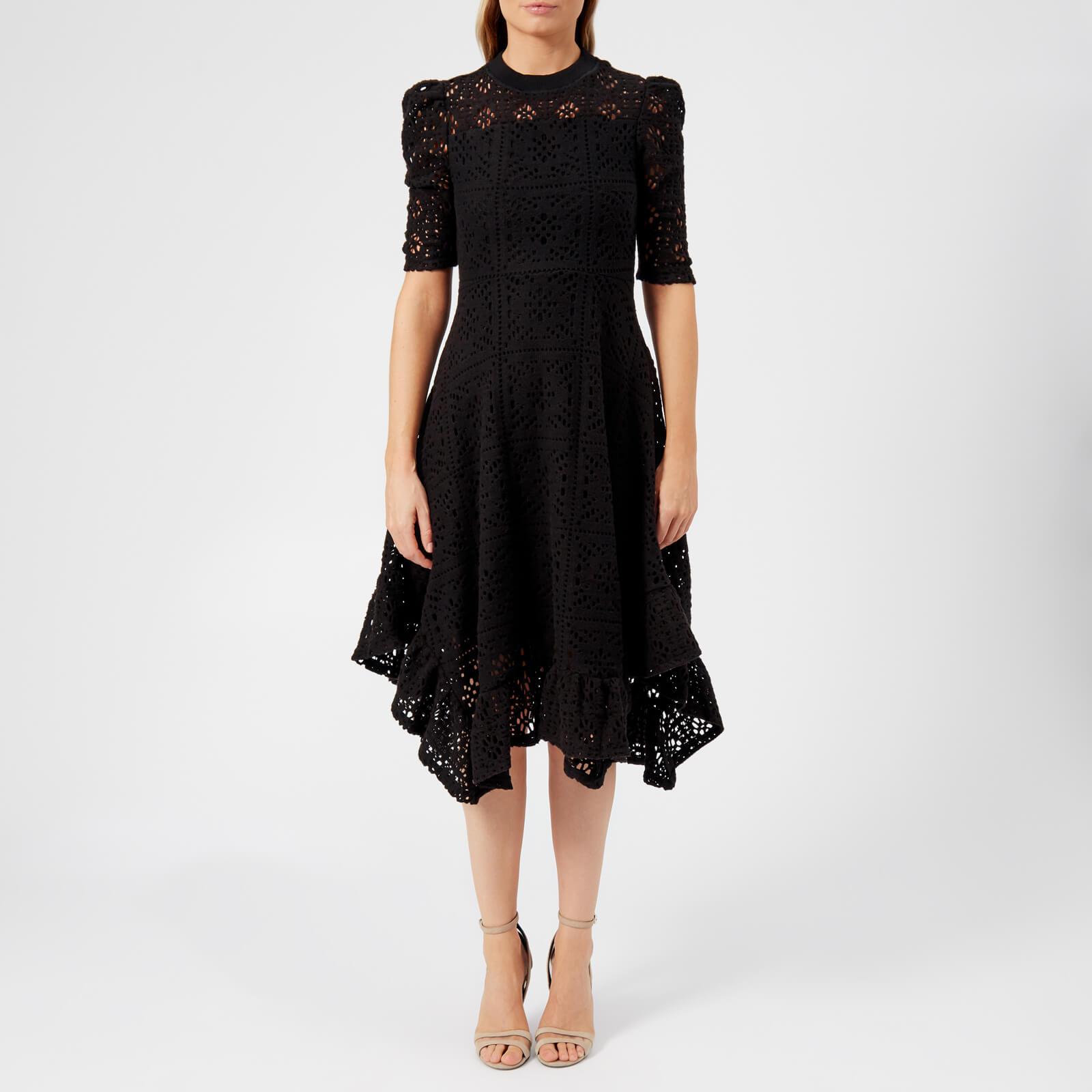 3eca2291b6 See By Chloé Women's Floral Jersey Lace Midi Dress - Black