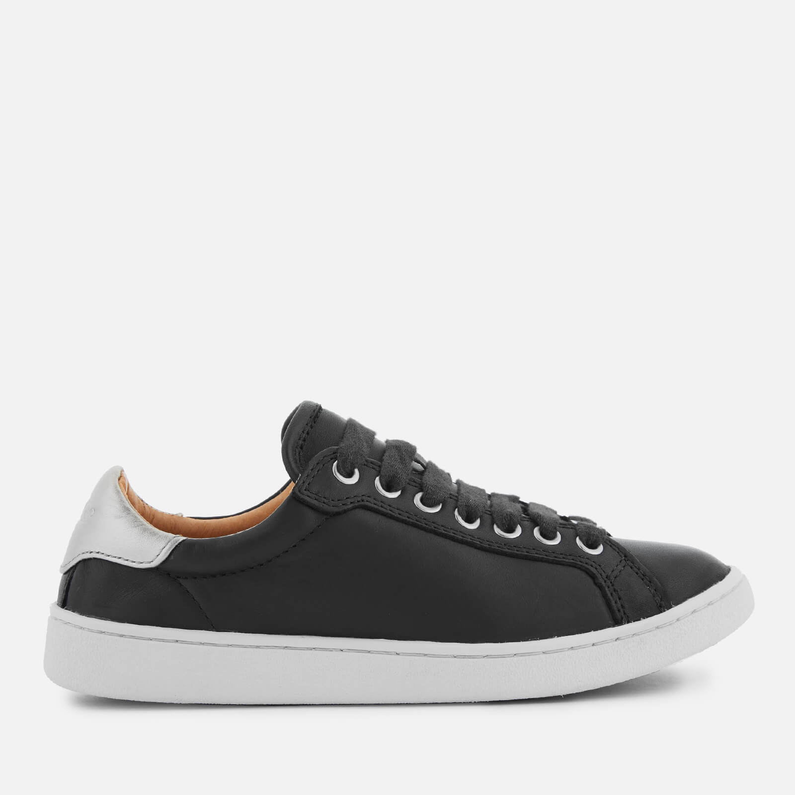 97c3706b86a8 UGG Women s Milo Full Grain Leather Low Top Trainers - Black - Free UK  Delivery over £50