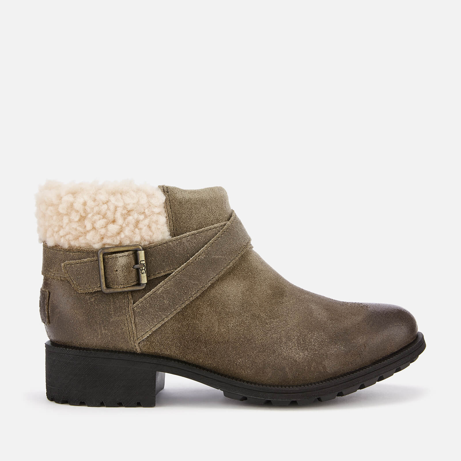 8e8b3f3369b UGG Women's Benson Waterproof Leather Ankle Boots - Dove