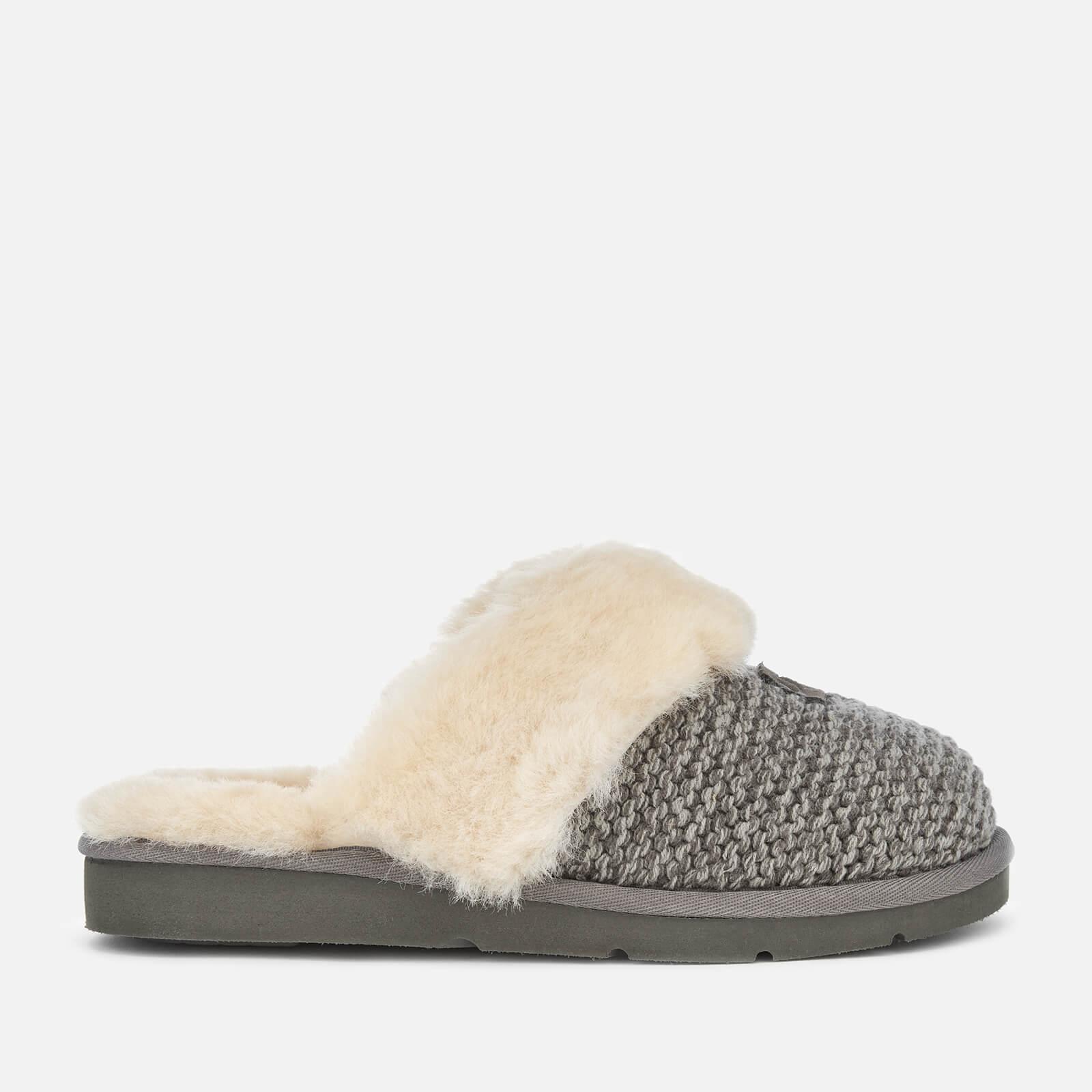 0702cbb5171 UGG Women s Cozy Knit Slippers - Charcoal Womens Footwear