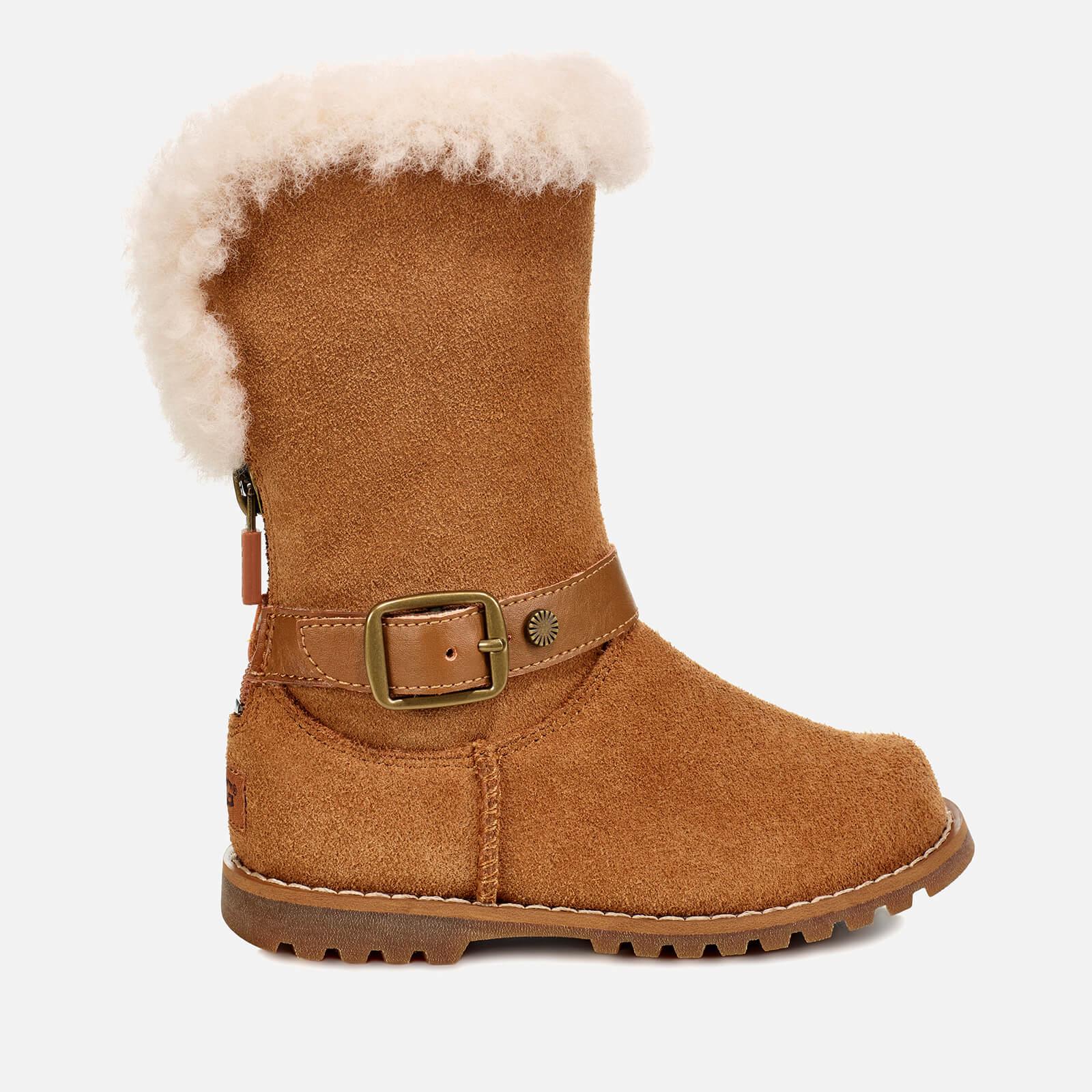 de60f8d654f UGG Kid's Nessa Suede Buckle Boots - Chestnut