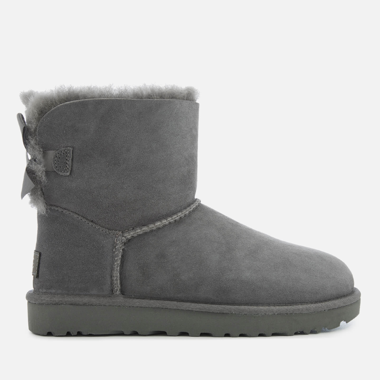 UGG Women's Mini Bailey Bow II Sheepskin Boots - Grey - UK 5