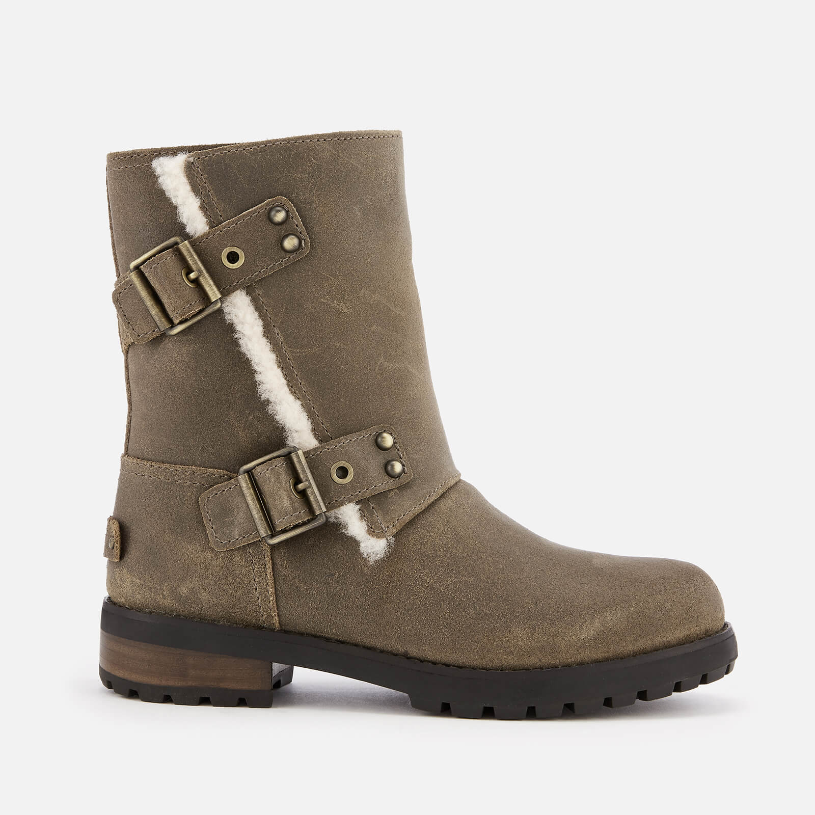 e71f2a5eb8a UGG Women's Niels II Water Resistant Leather Biker Boots - Dove