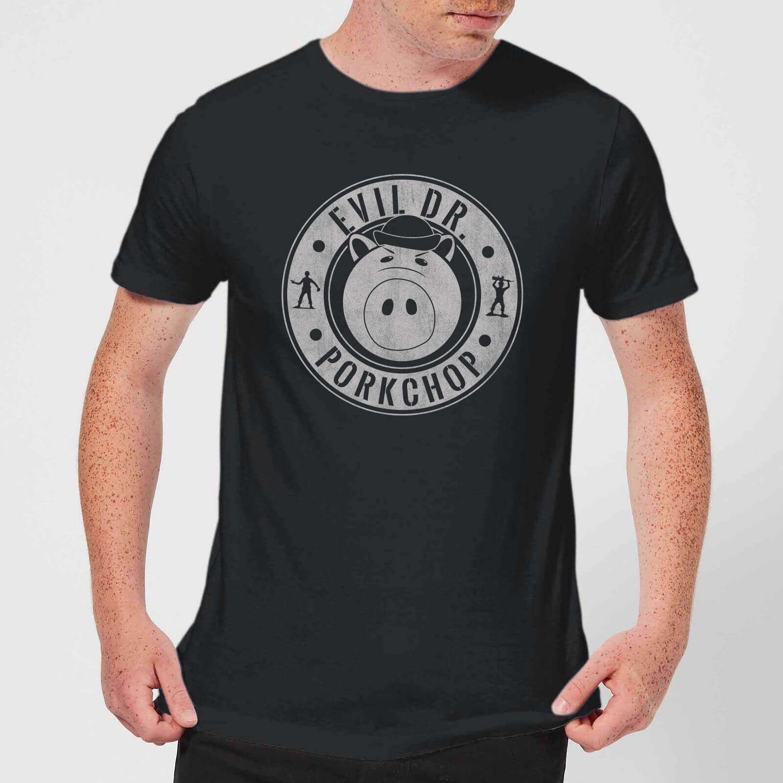 5447f24fc90f00 Toy Story Dr Porkchop Men's T-Shirt - Black Clothing   Zavvi