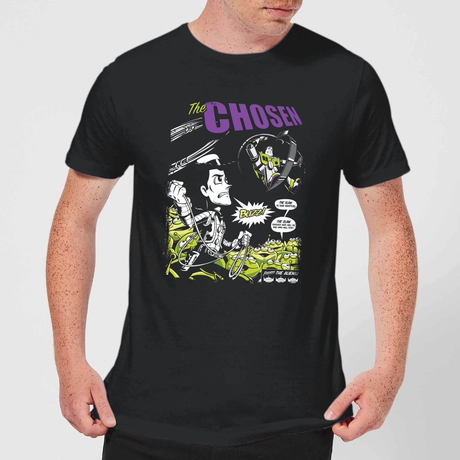 2b0c34e39f46 Toy Story Comic Cover Men's T-Shirt - Black Clothing   Zavvi