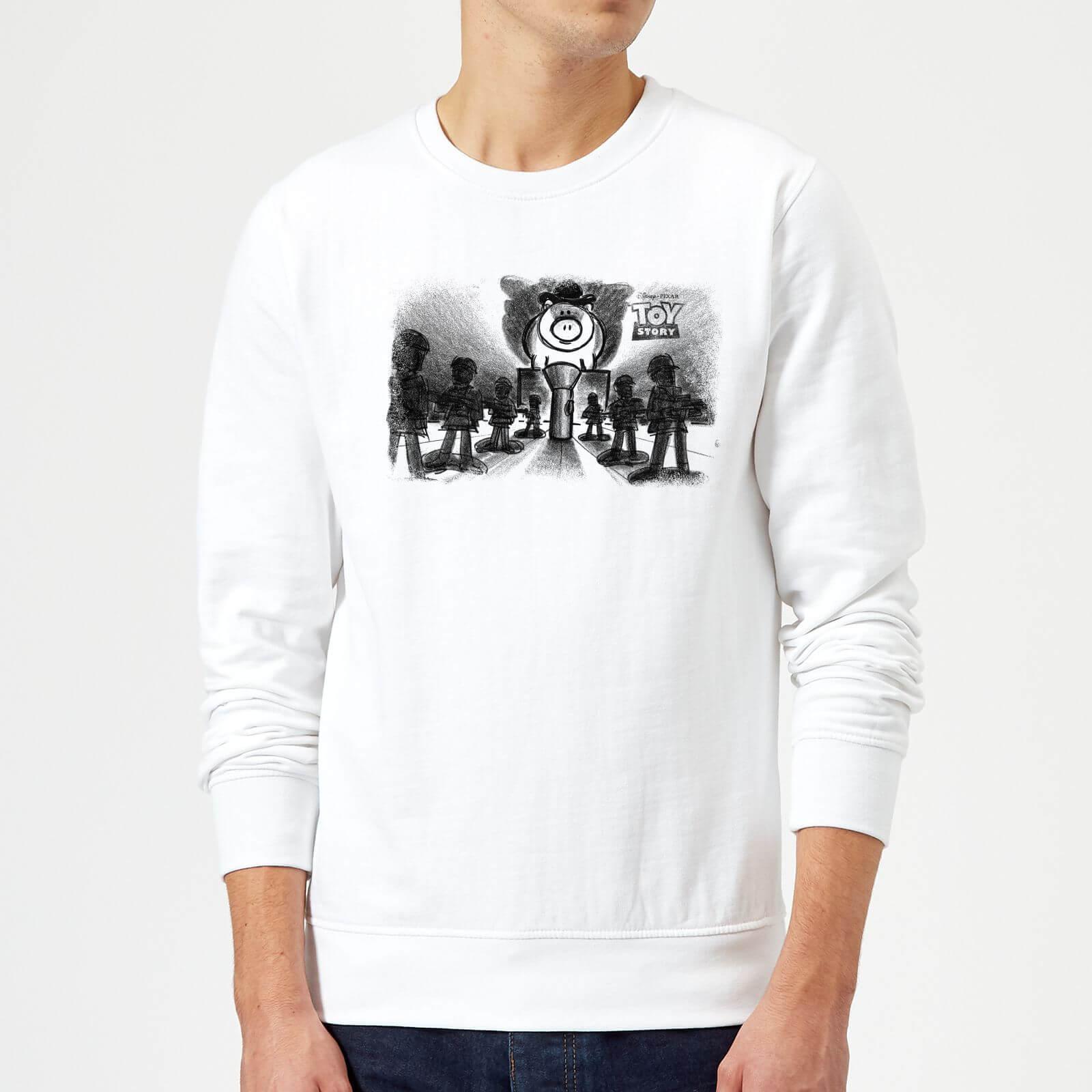 Toy Story Evil Dr Pork Chop Speech Sweatshirt - White