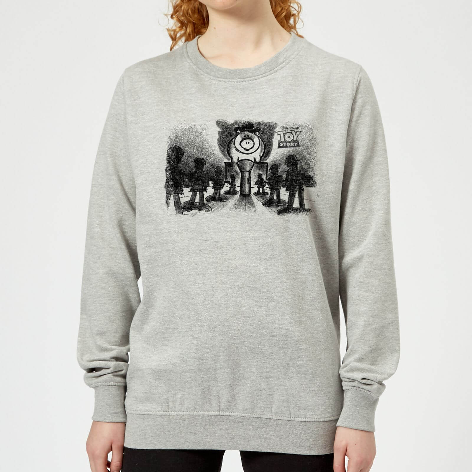 Toy Story Evil Dr Pork Chop Speech Women's Sweatshirt - Grey