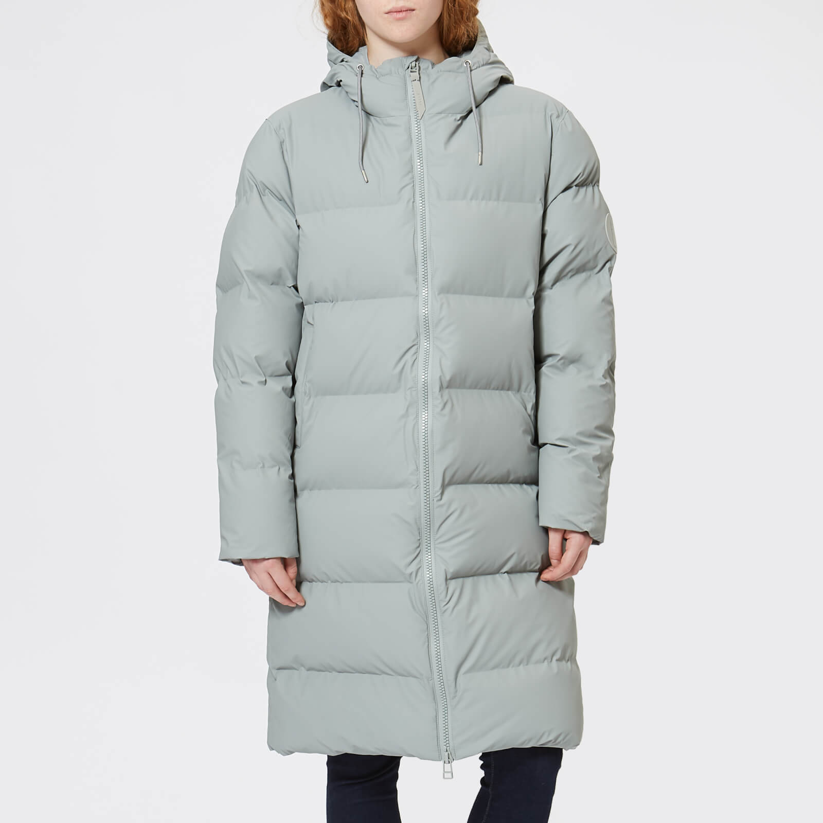 c5ff387a6 RAINS Women's Long Puffa Jacket - Stone - Free UK Delivery over £50