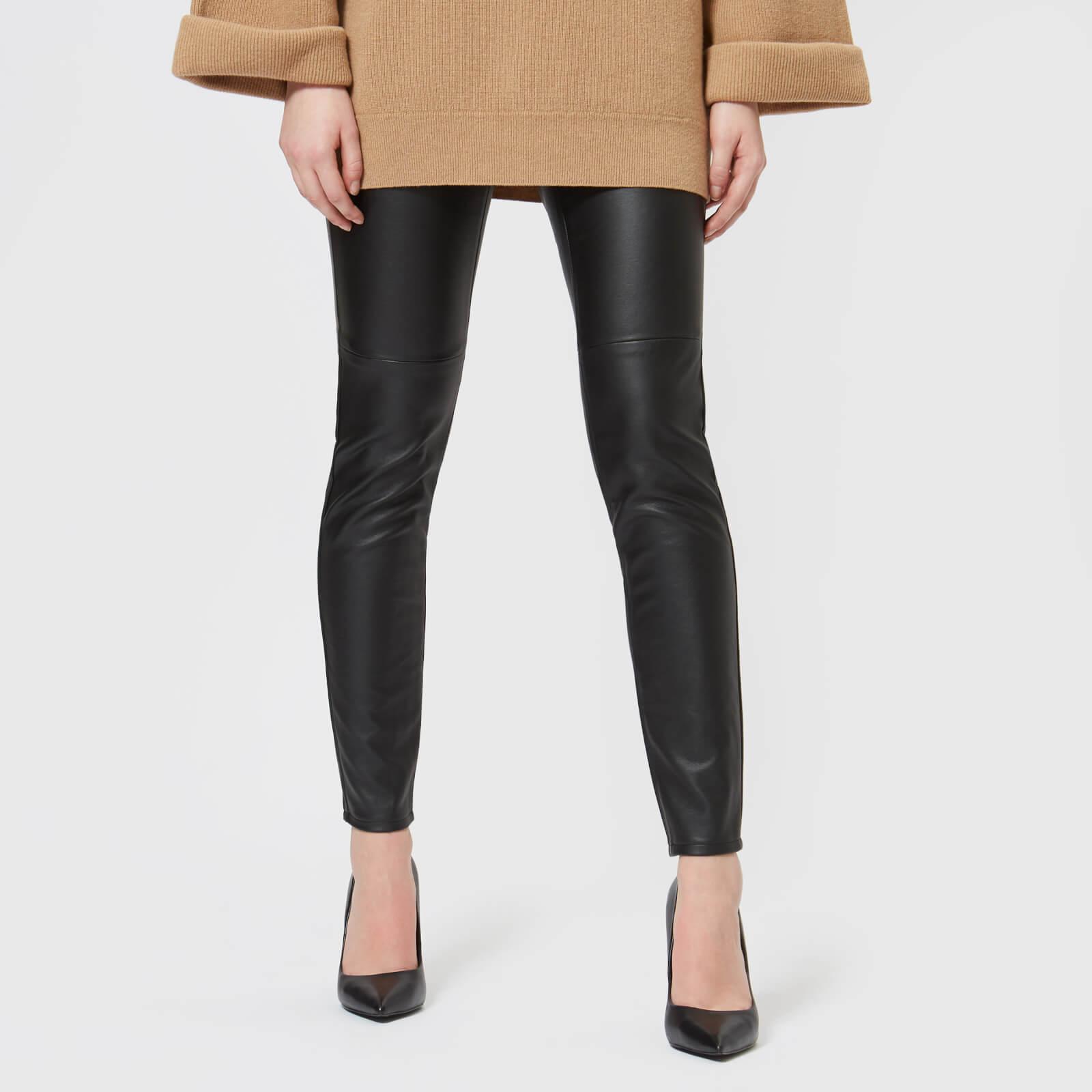 5c03d24330e4bd MICHAEL MICHAEL KORS Women's Faux Leather Leggings - Black Womens Clothing  | TheHut.com