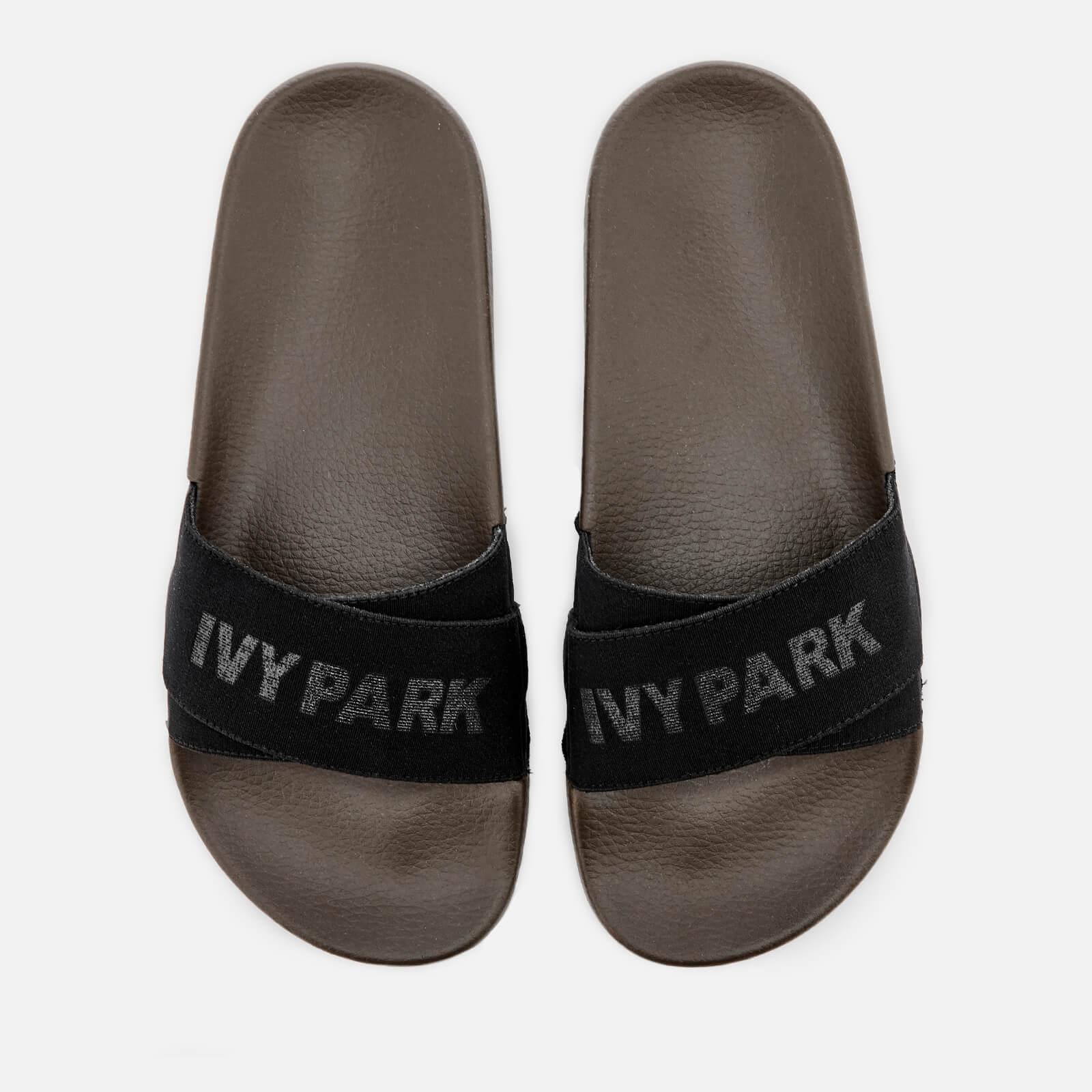 3cb78f8b0bbd Ivy Park Women s Logo Tape Slide Sandals - Crocodile Sports   Leisure