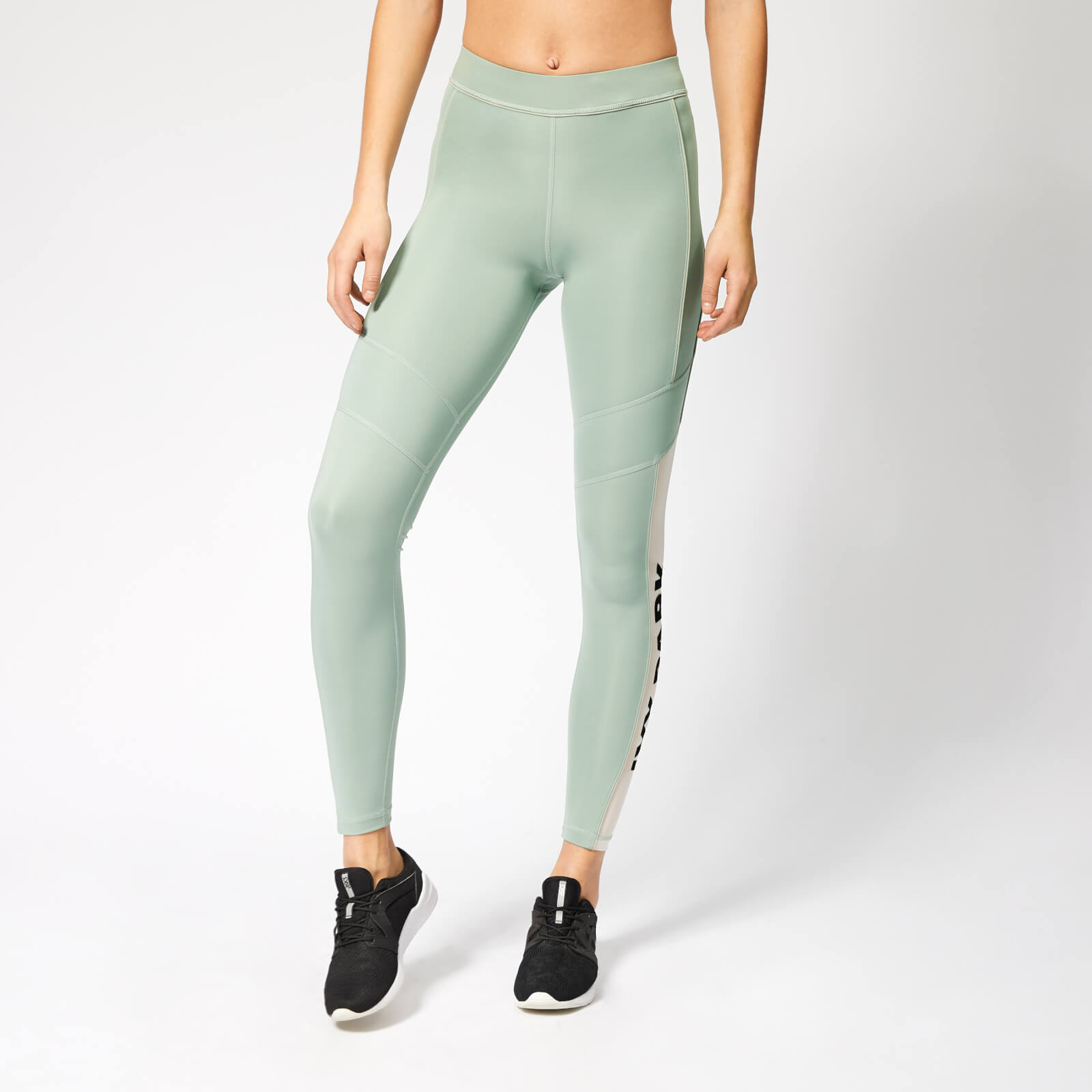5dbbfd8d324d4b Ivy Park Women's Sheer Flocked Active Logo Leggings - Chinois Green Sports  & Leisure | TheHut.com