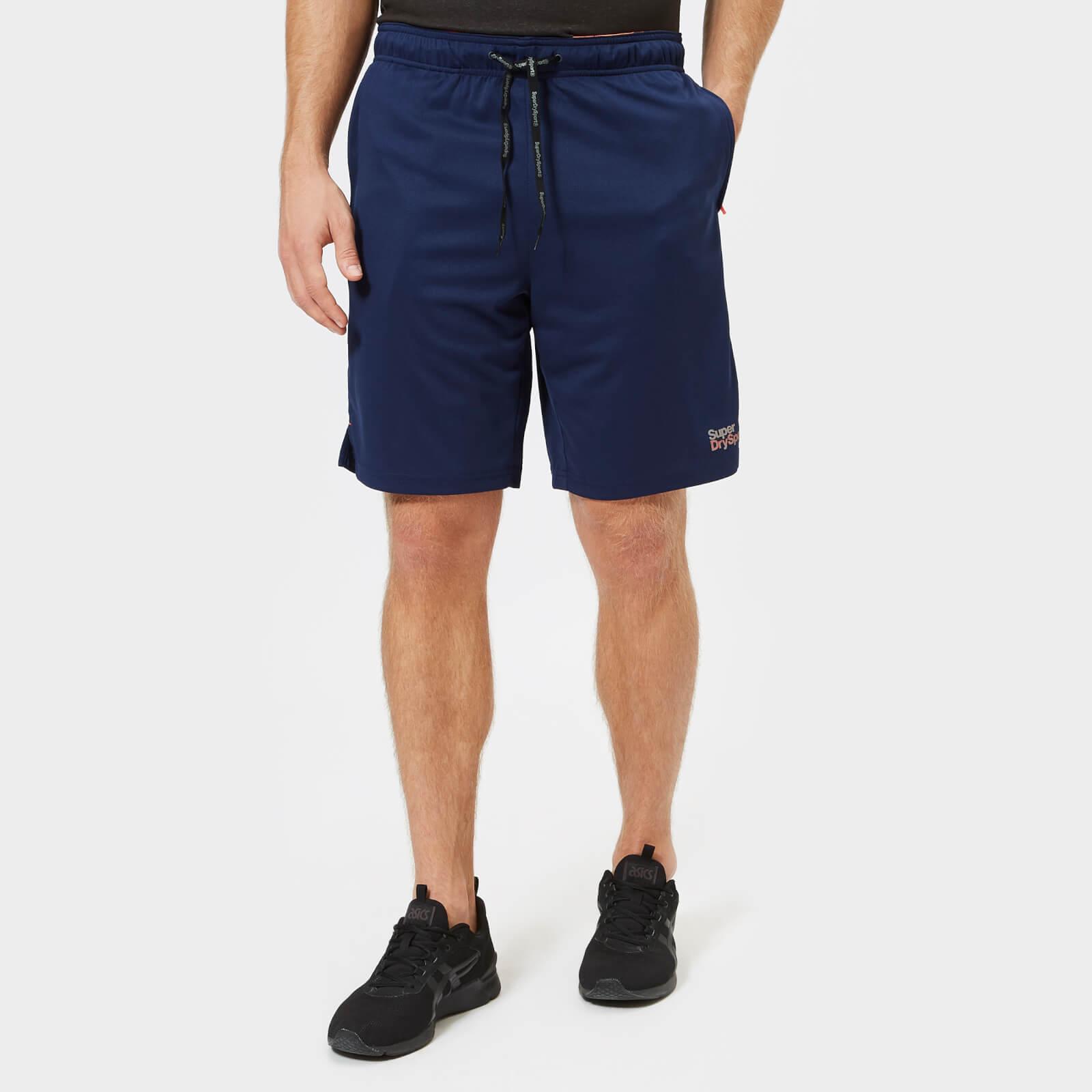 69fb0c9f Superdry Sport Men's Core Train Relax Tricot Shorts - Navy Mens Clothing    TheHut.com