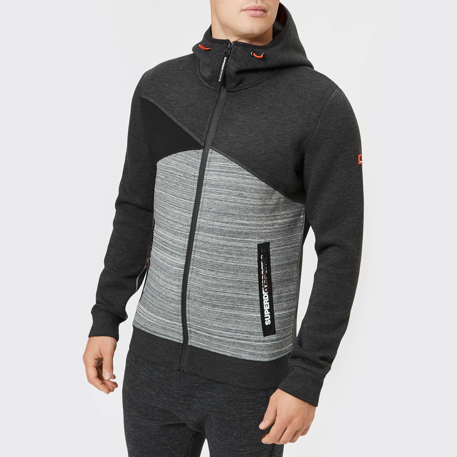 0d4272002c5 Superdry Sport Men's Gym Tech Spliced Zip Hoodie - Carbon/Black Mens  Clothing | TheHut.com