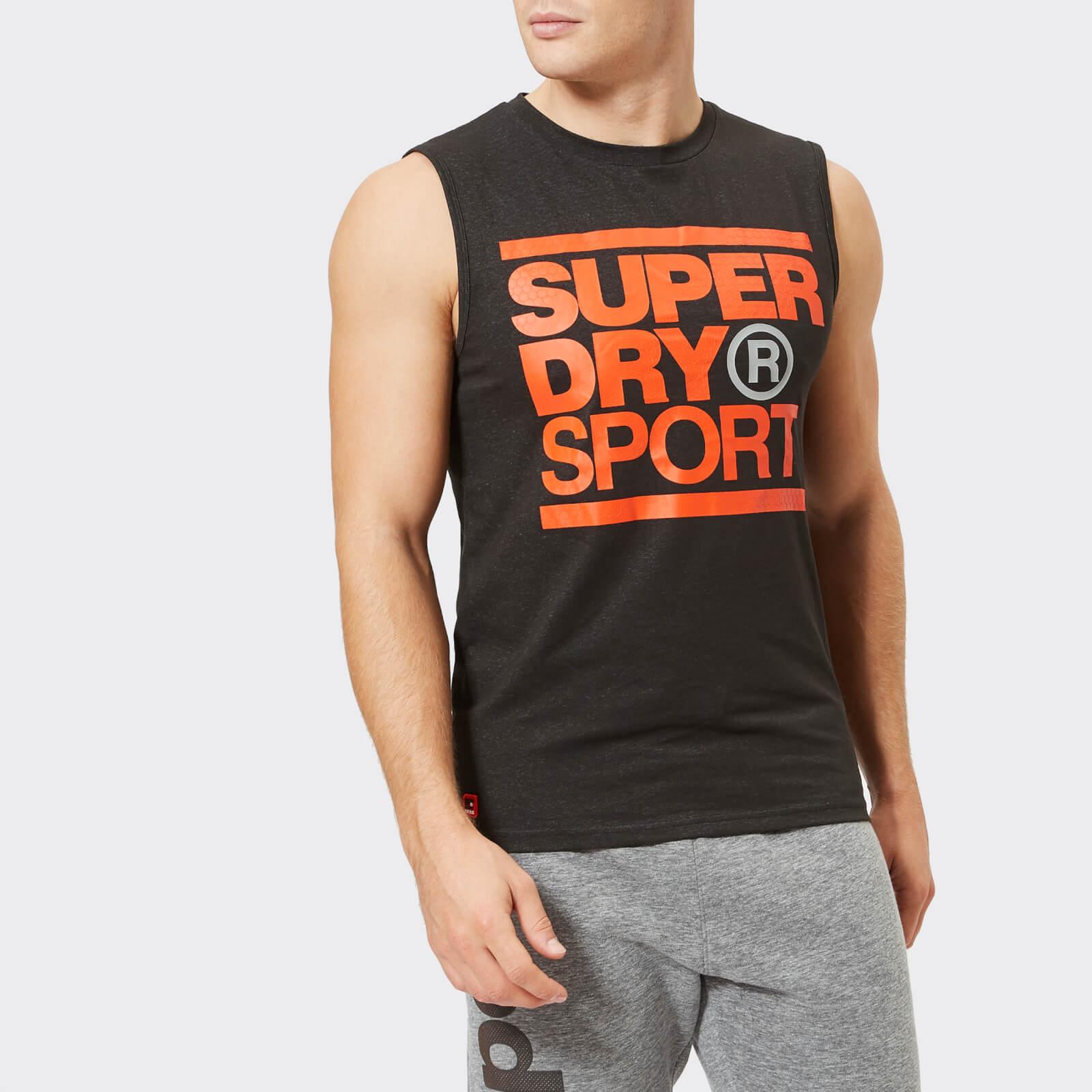 318130c8fa6764 Superdry Sport Men s Core Graphic Tank Top - Black Mens Clothing ...