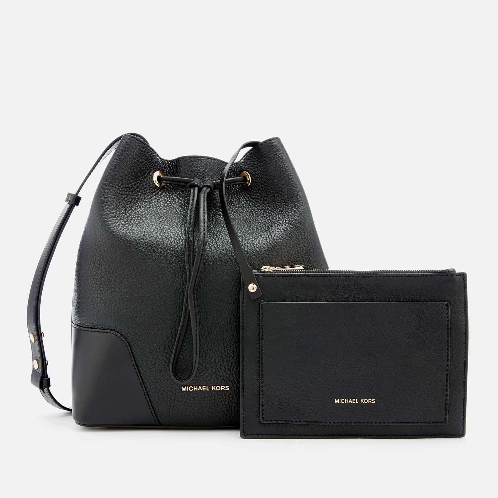 3dedf0be48ae1 MICHAEL MICHAEL KORS Women s Cary Medium Bucket Bag - Black - Free ...