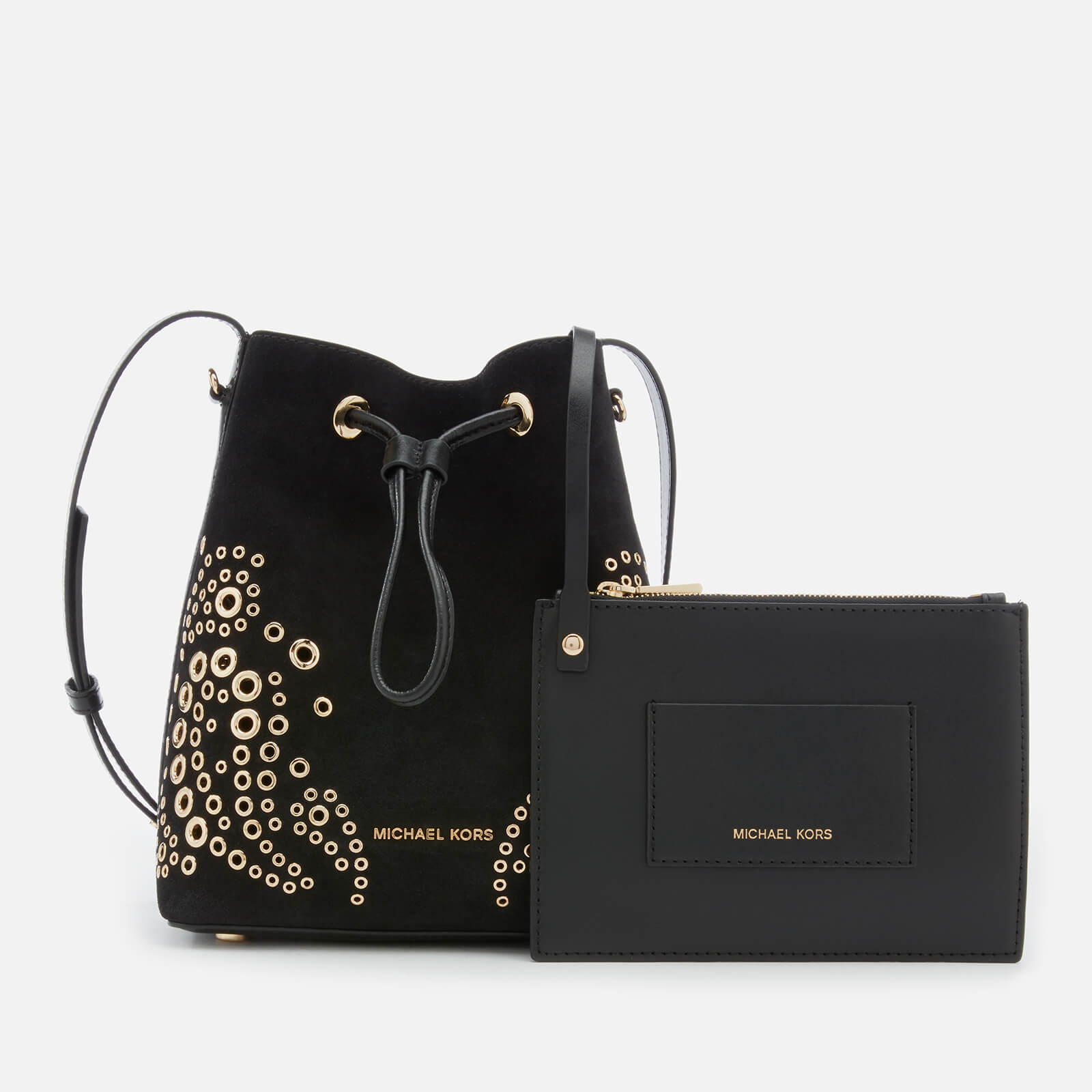 fcc0f44f99e9c ... MICHAEL MICHAEL KORS Women s Cary Small Bucket Bag with Paisely Grommit  Studs - Black