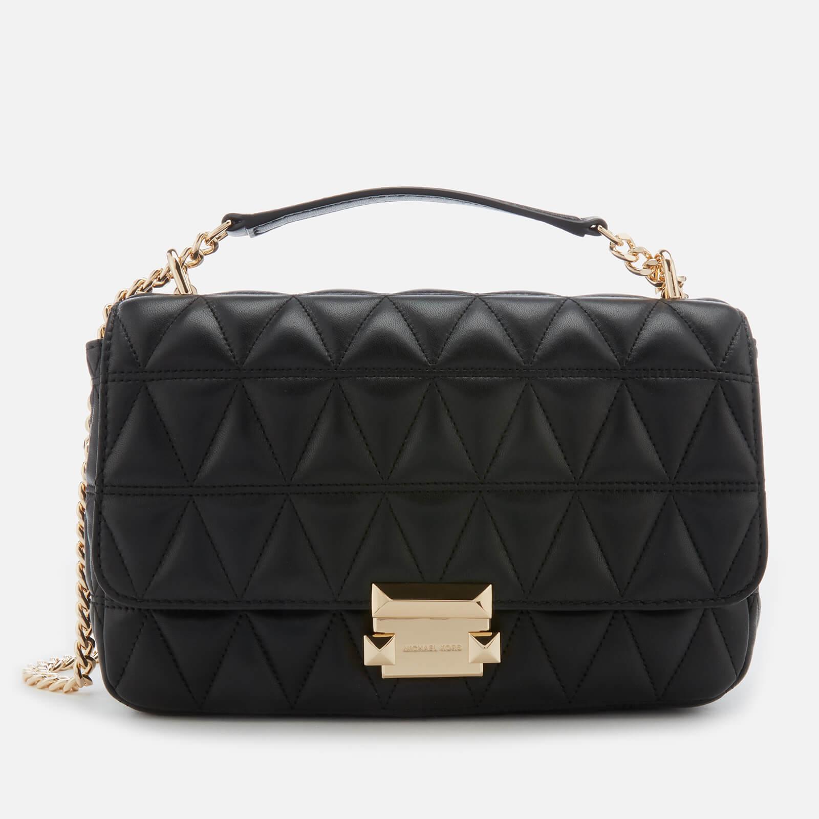 550fe6c97e80 MICHAEL MICHAEL KORS Women s Sloan Large Chain Shoulder Bag - Black ...
