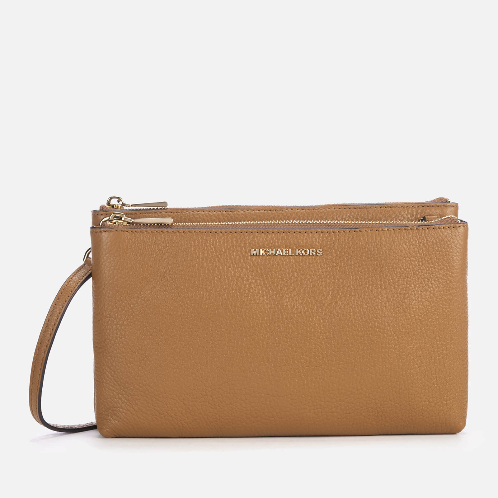 ceee566c8306 MICHAEL MICHAEL KORS Women's Double Zip Cross Cross Body Bag - Acorn  Clothing | TheHut.com