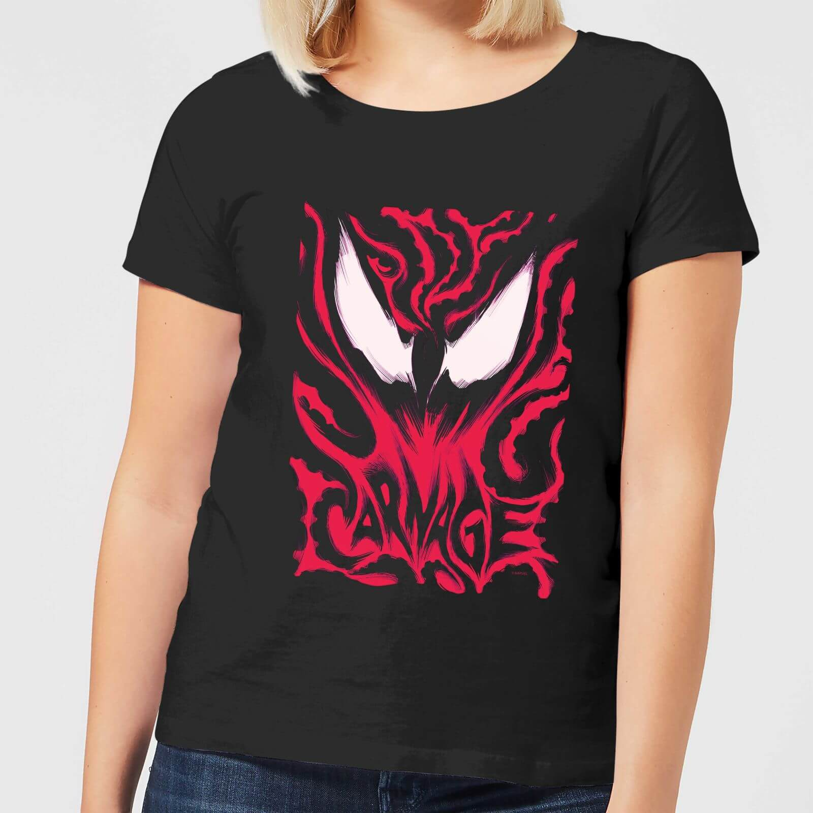 4145d0bb0 Camiseta Marvel Venom Matanza - Mujer - Negro Clothing