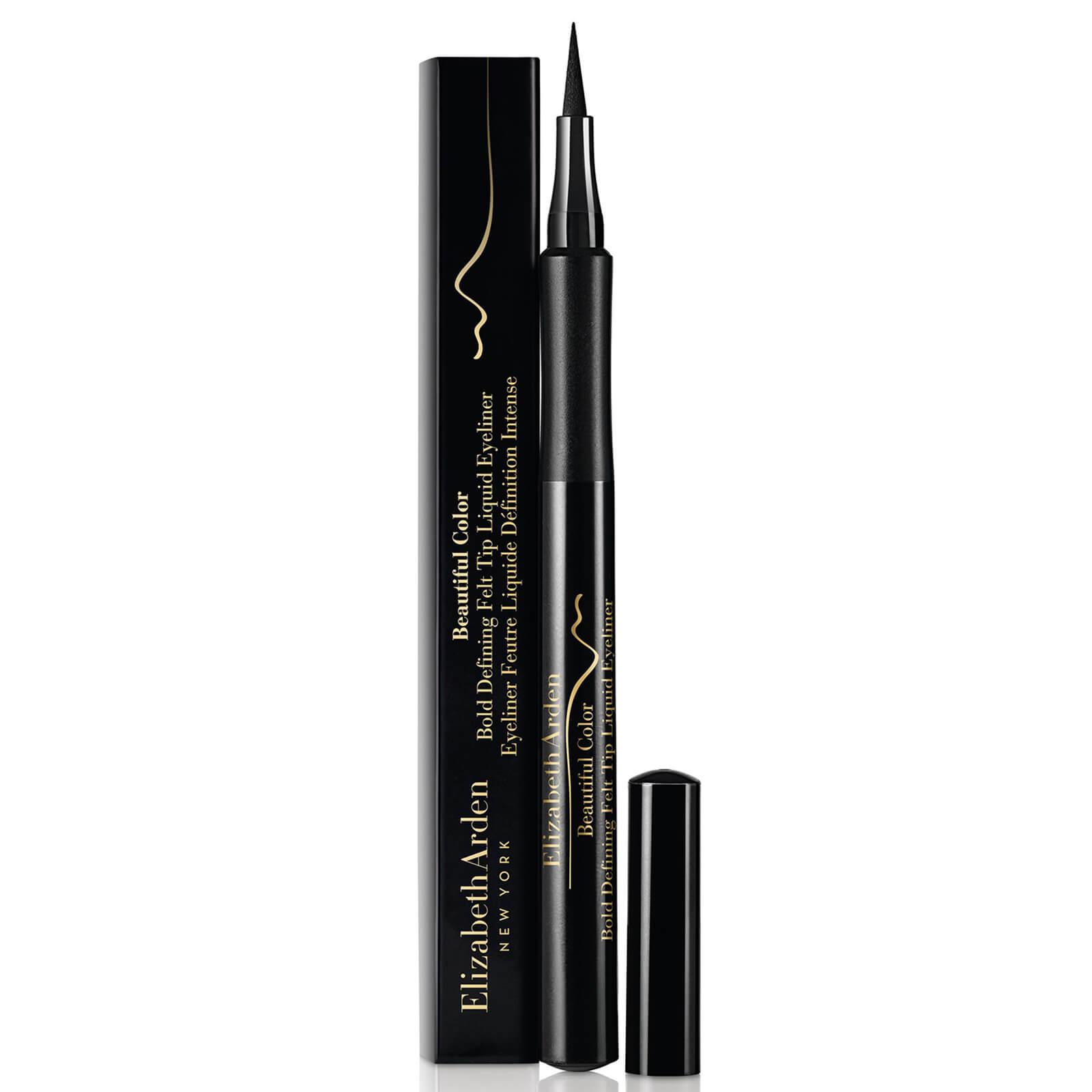 b9f3102d875 Elizabeth Arden Beautiful Colour Bold Defining Felt Tip Liquid Eye Liner -  Seriously Black 1.2ml | Free Shipping | Lookfantastic