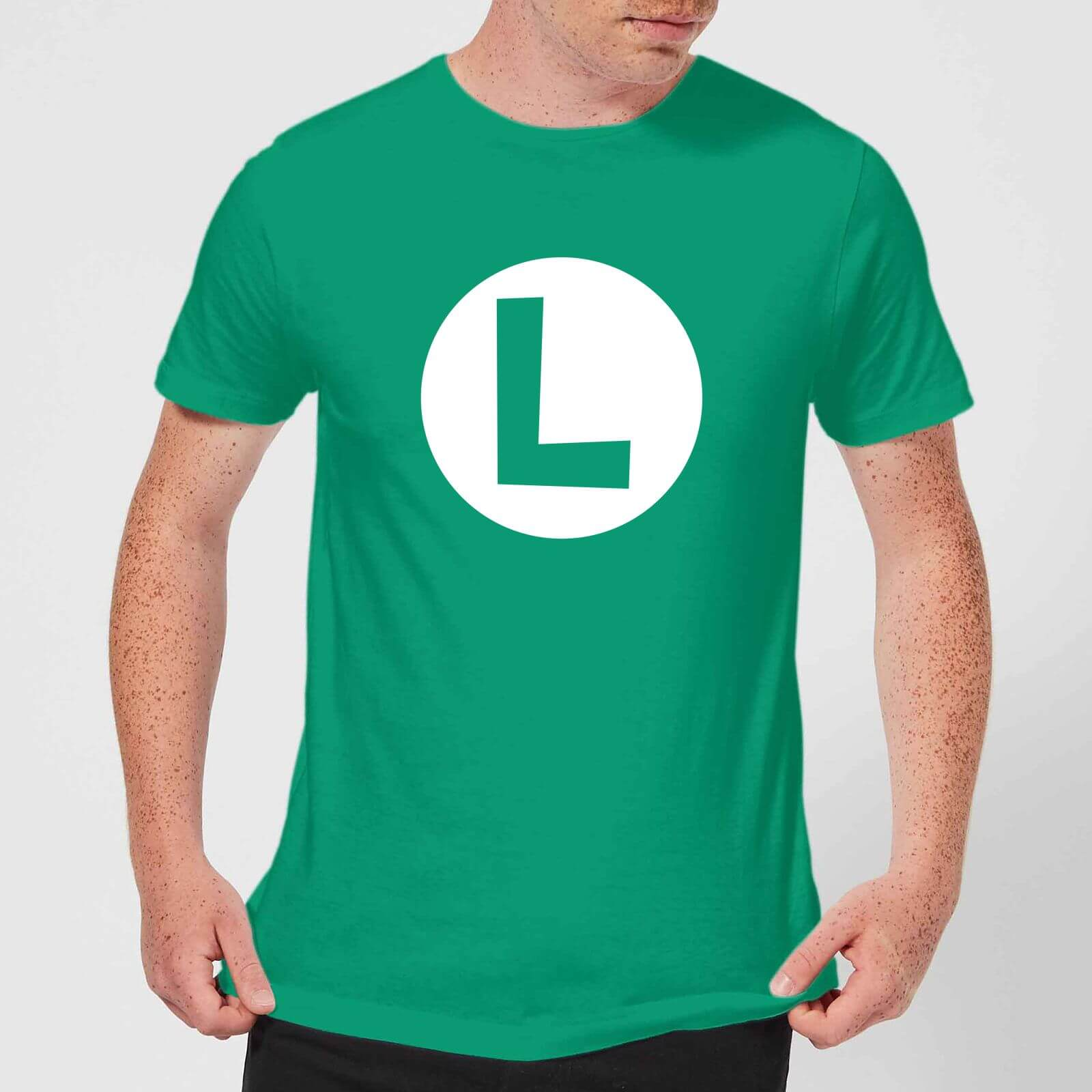 59b40b043 Nintendo Super Mario Luigi Logo Men's T-Shirt - Kelly Green Clothing   Zavvi