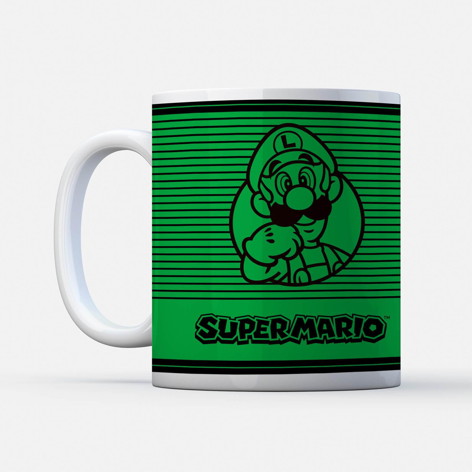 Nintendo Super Mario Luigi Retro Line Art Colour Tasse ...