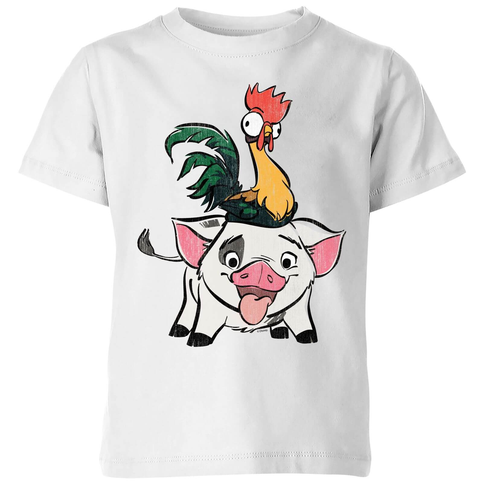 b589ab219 Moana Hei Hei and Pua Kids' T-Shirt - White Clothing | Zavvi