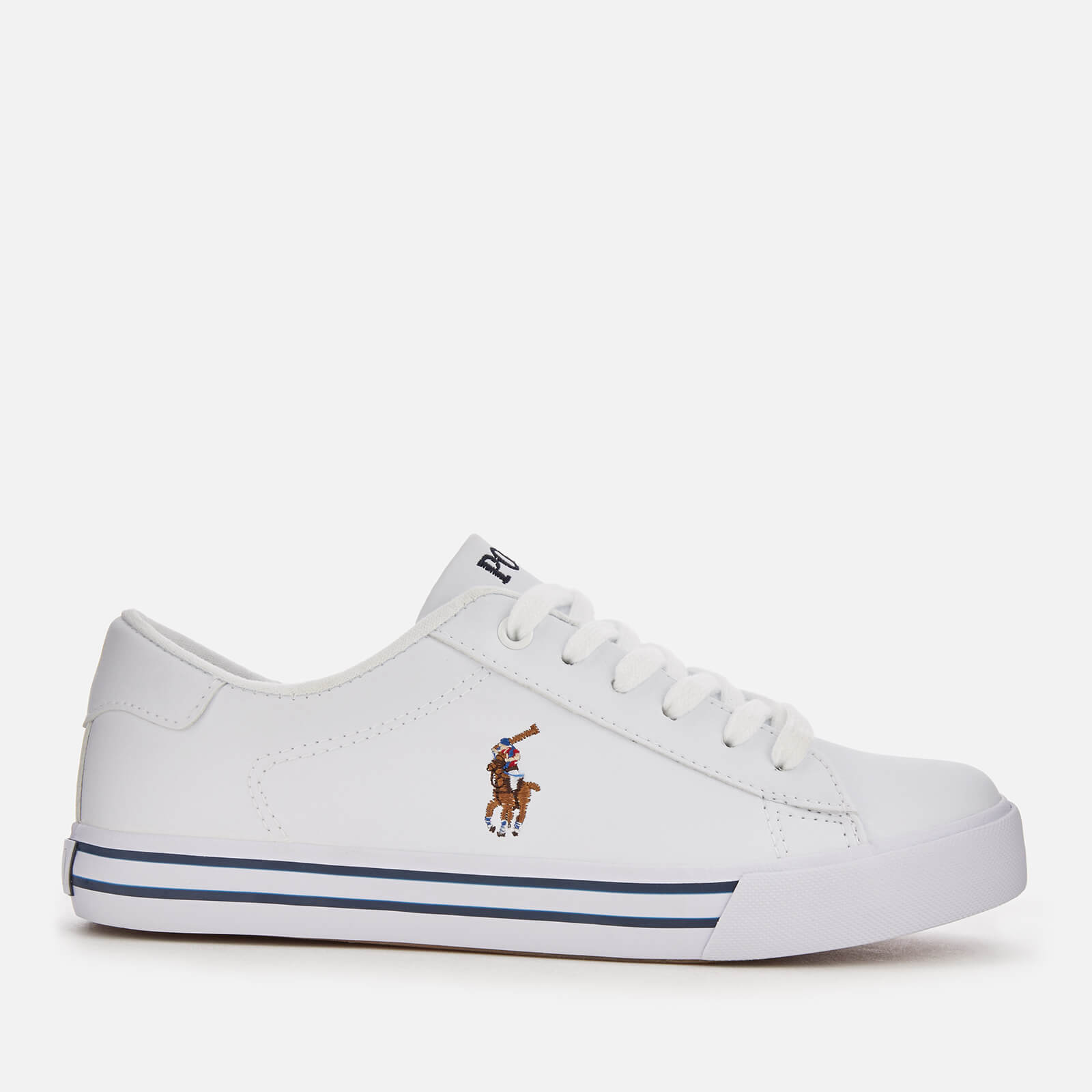 Ralph Leather Kids' Whitemulti Easten Trainers Lauren Polo Tumbled rtBsCQhdx