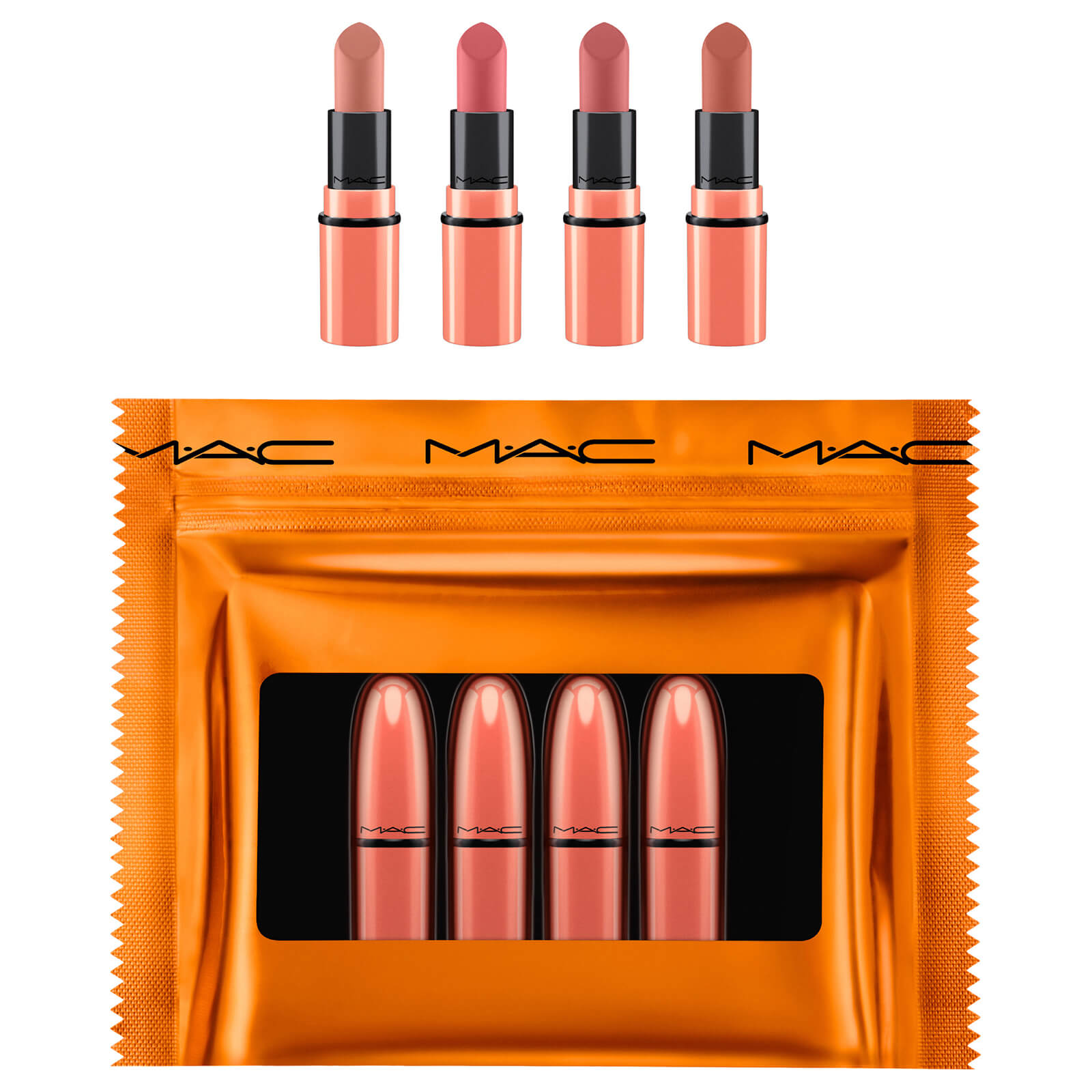 MAC Nude Shiny Pretty Things Party Favours Mini Lipsticks