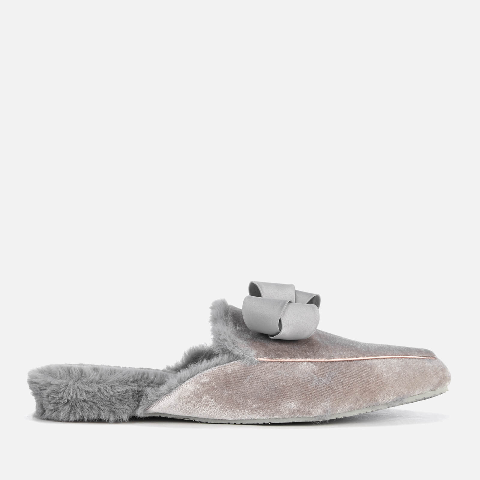 f4a81312a Ted Baker Women s Bhaybe Velvet Mule Slippers - Light Grey Womens ...
