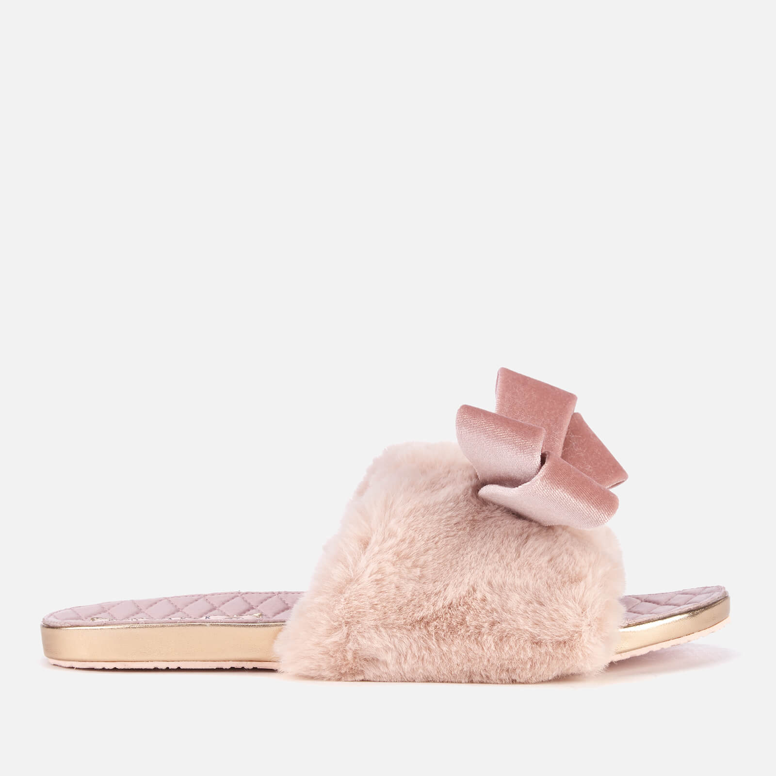 81efa11626ab Ted Baker Women s Blings Faux Fur Slip-On Slippers - Light Pink Womens  Footwear