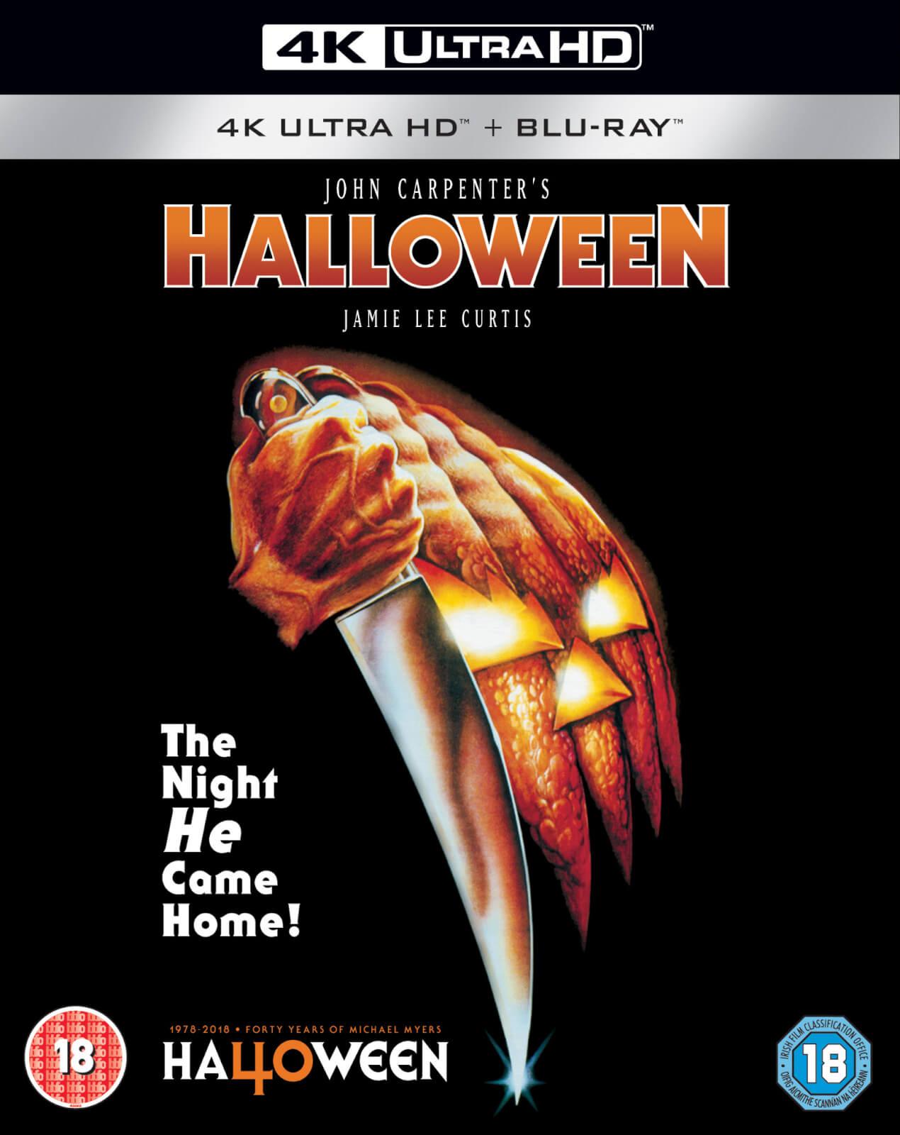 halloween - 4k ultra hd 40th anniversary edition blu-ray | zavvi