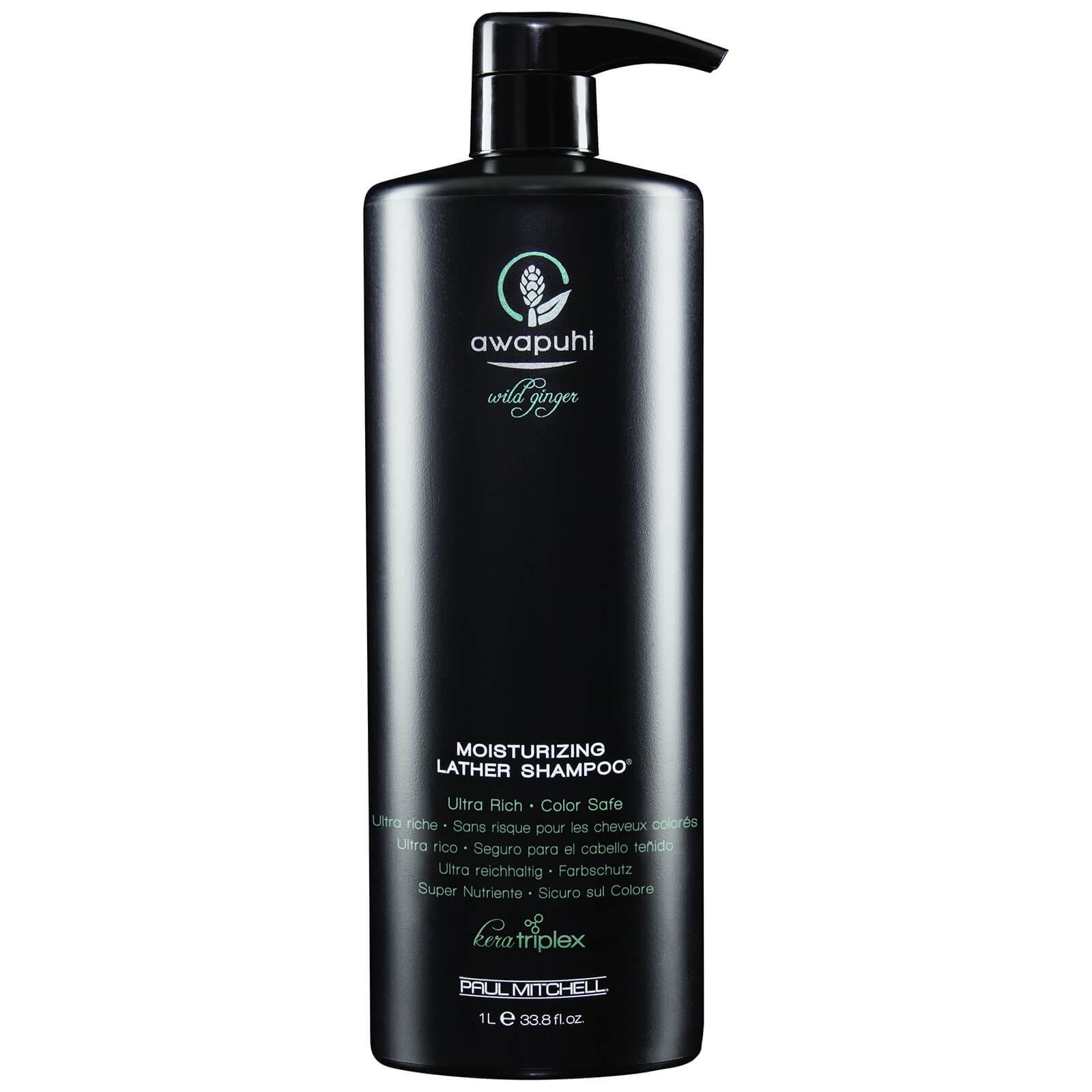 Paul Mitchell Awapuhi Wild Ginger Moisturizing Lather Shampoo 1000ml ... f8a2e514c2