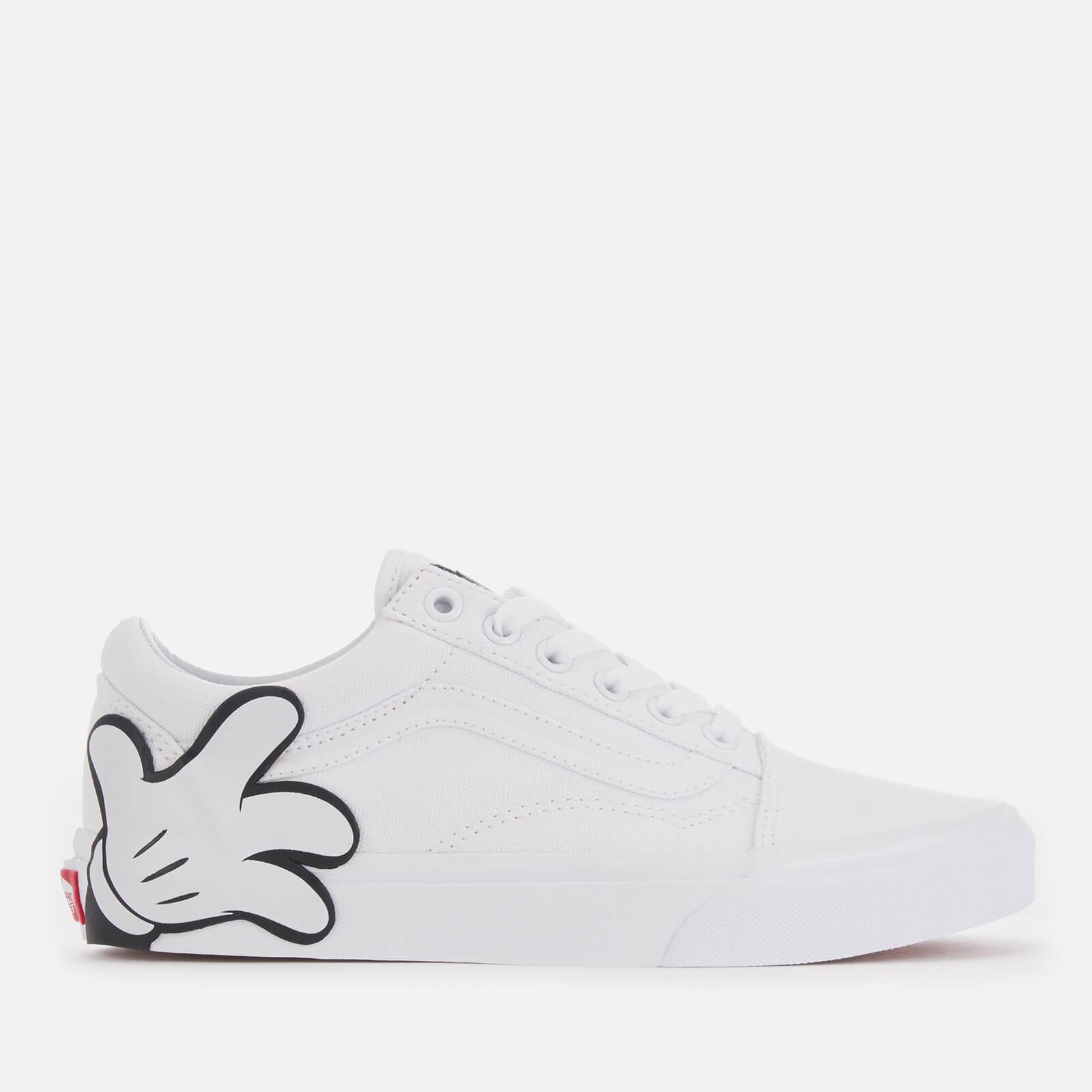 d10d154397 Vans Women s Disney Mickey Old Skool Trainers - True White Womens Footwear