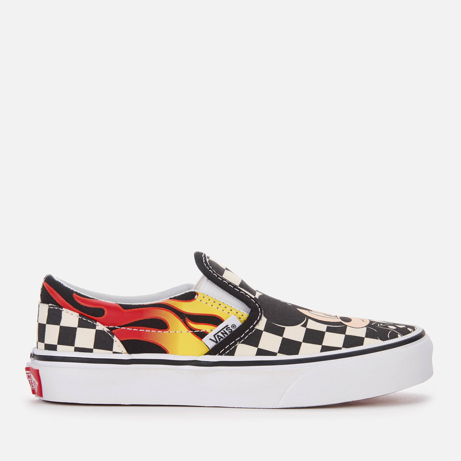 f5bf877762 Vans Kid s Disney Mickey   Minnie Classic Slip-On Trainers - Checker Flame  Junior Clothing
