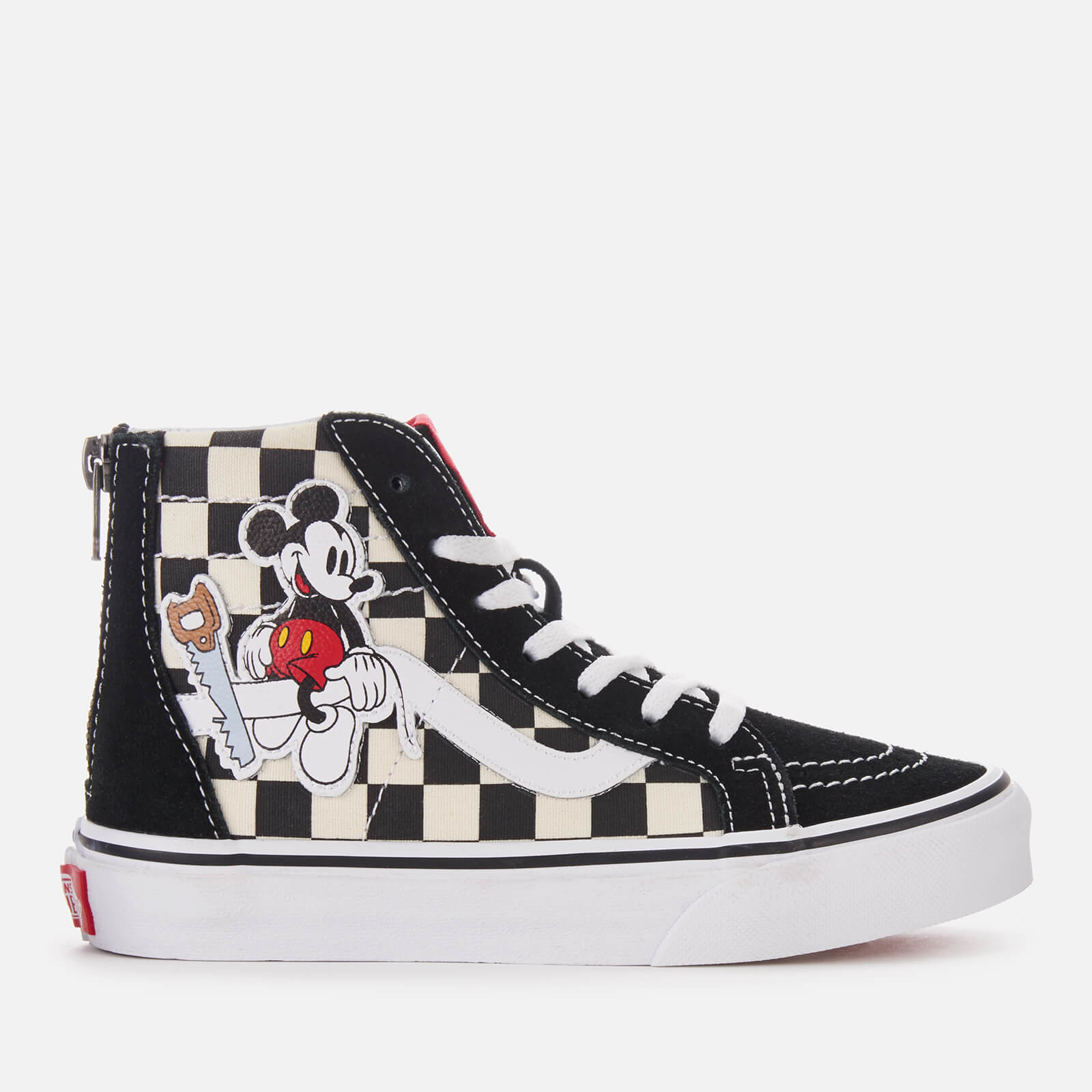 a6f5fa94c1 Vans Kid s Disney Mickey Sk8-Hi Zip Trainers - Checkerboard Junior Clothing