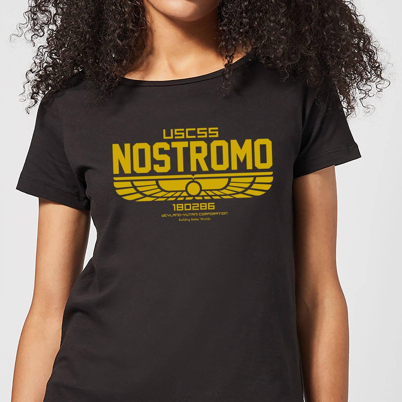 691107fa Alien USCSS Nostromo Women's T-Shirt - Black Clothing | Zavvi
