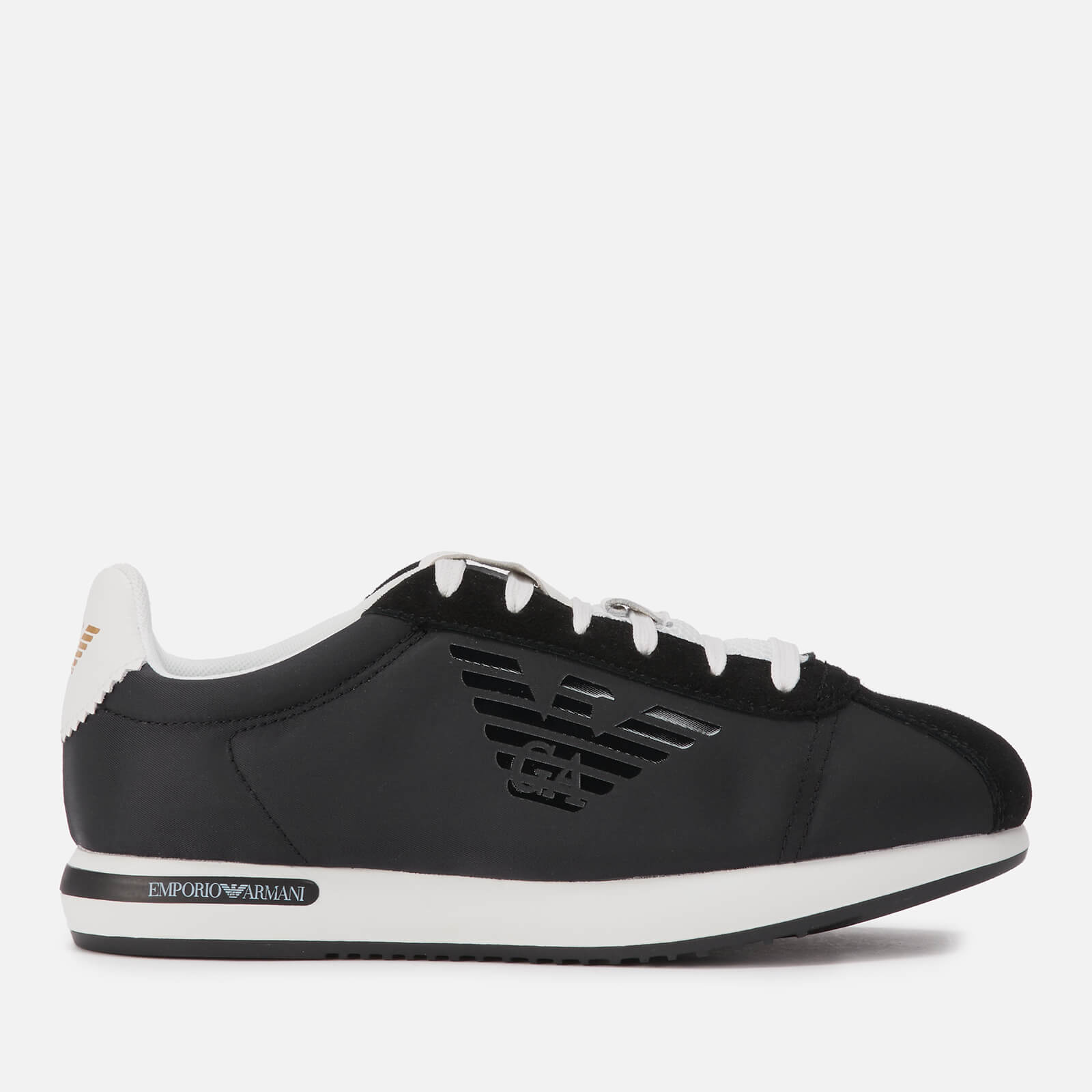 Emporio Armani Women's Biga Runner Style Trainers - Black/White - UK 6 - Black/White