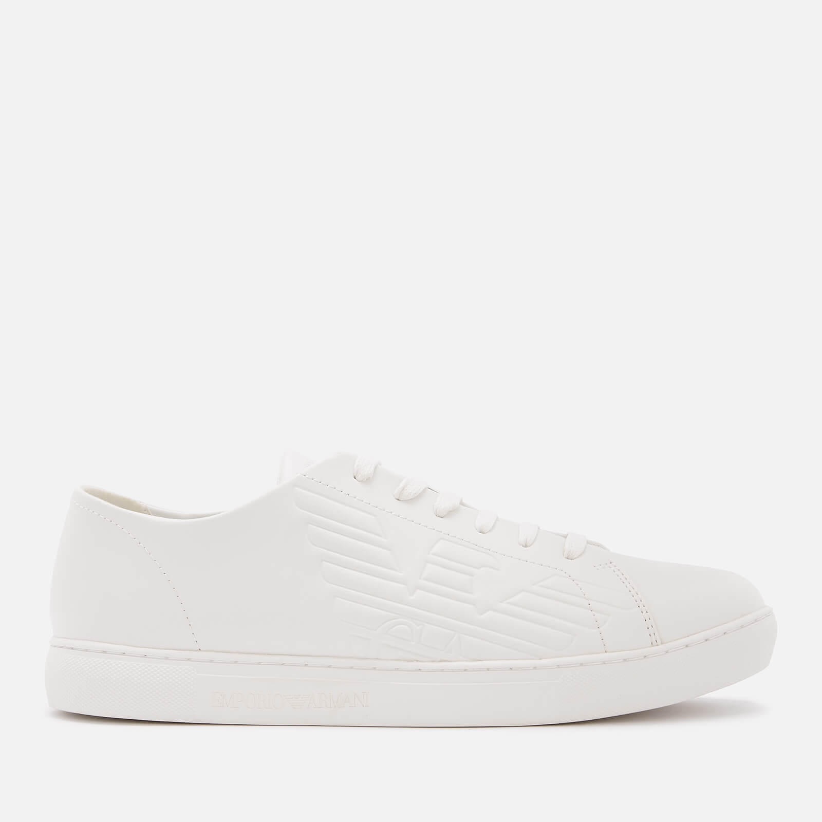 07f89415 Emporio Armani Men's Stan Leather Low Top Trainers - Optical White
