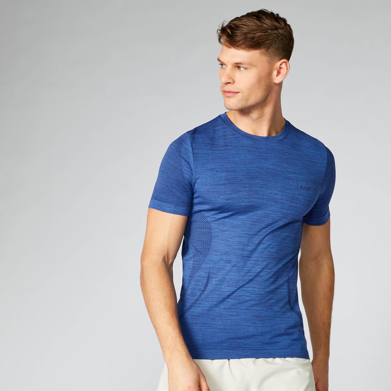 3c9b6fa7a1f09 Купить бесшовную футболку Sculpt | Синяя | MYPROTEIN™