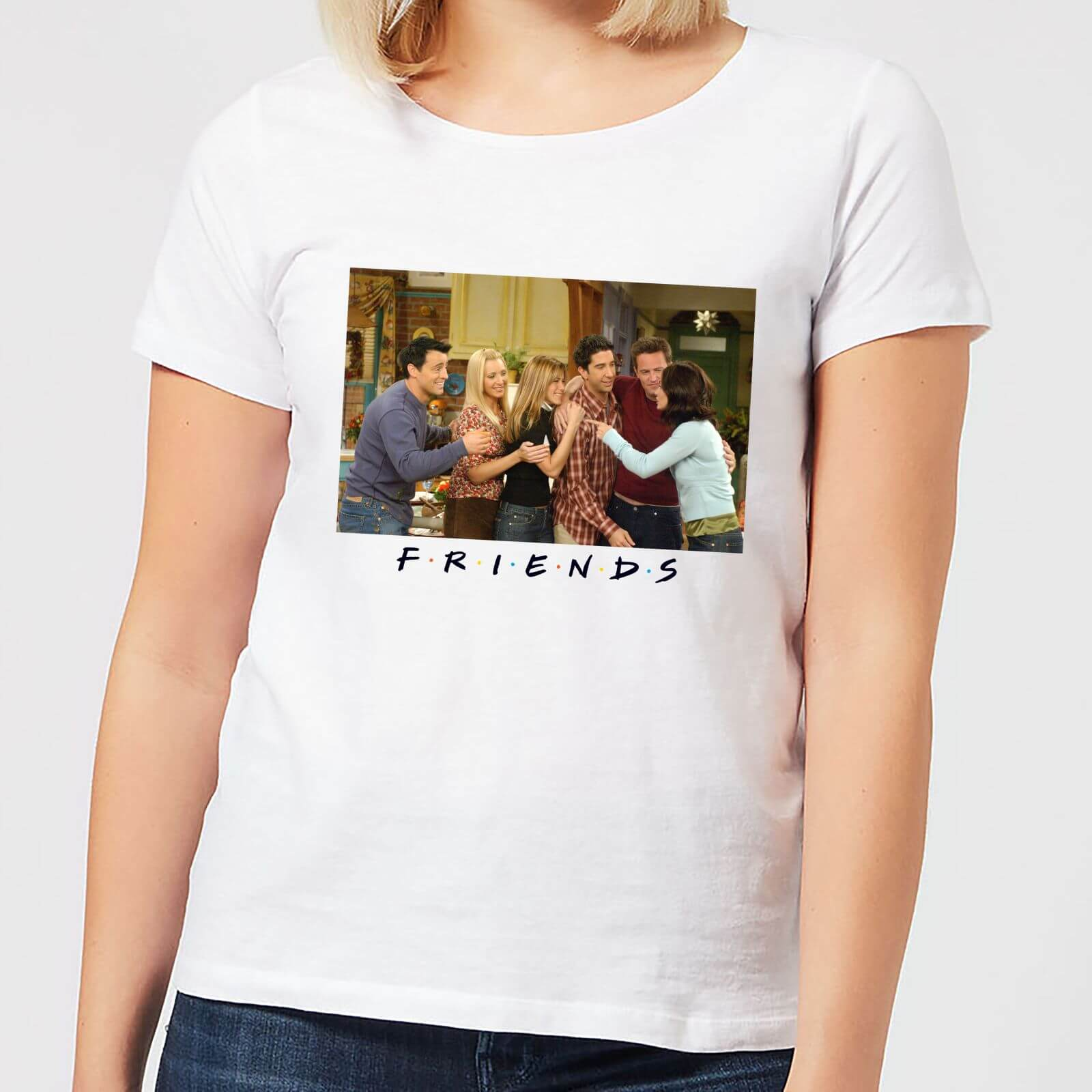 bee296148 Friends Cast Shot Women's T-Shirt - White Clothing | Zavvi