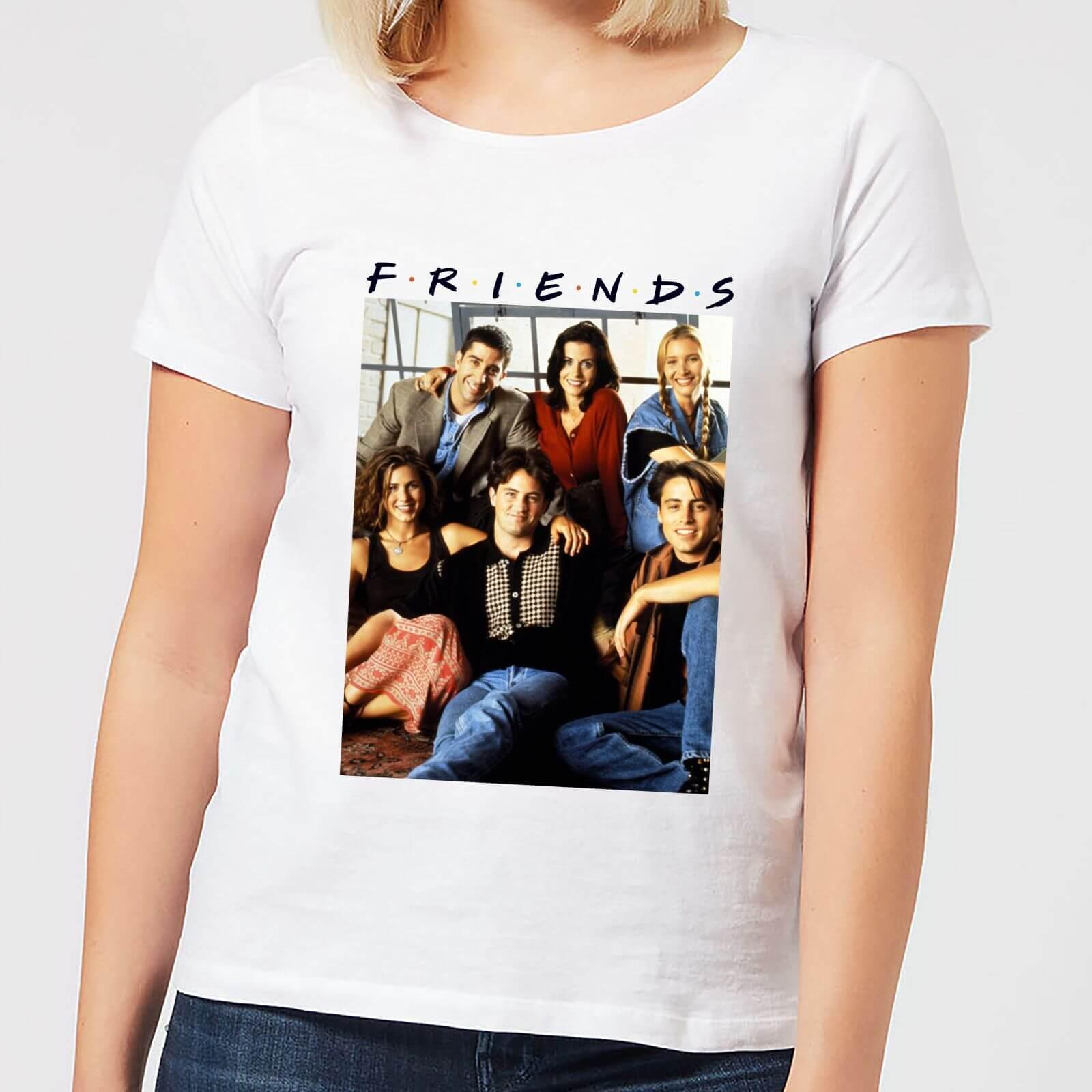 fina artesanía Reino Unido última venta Camiseta Friends Foto Personajes Vintage - Mujer - Blanco