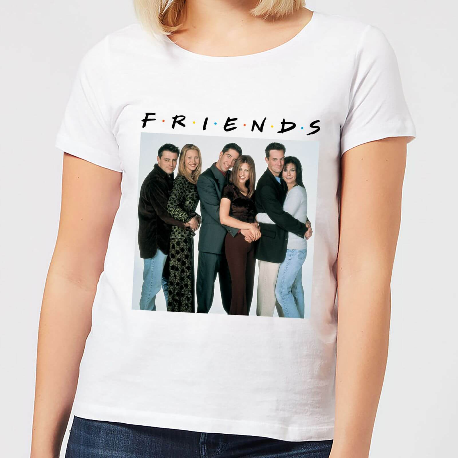 Femme Friends Shirt Blanc T Groupe Le DYeW2EH9I